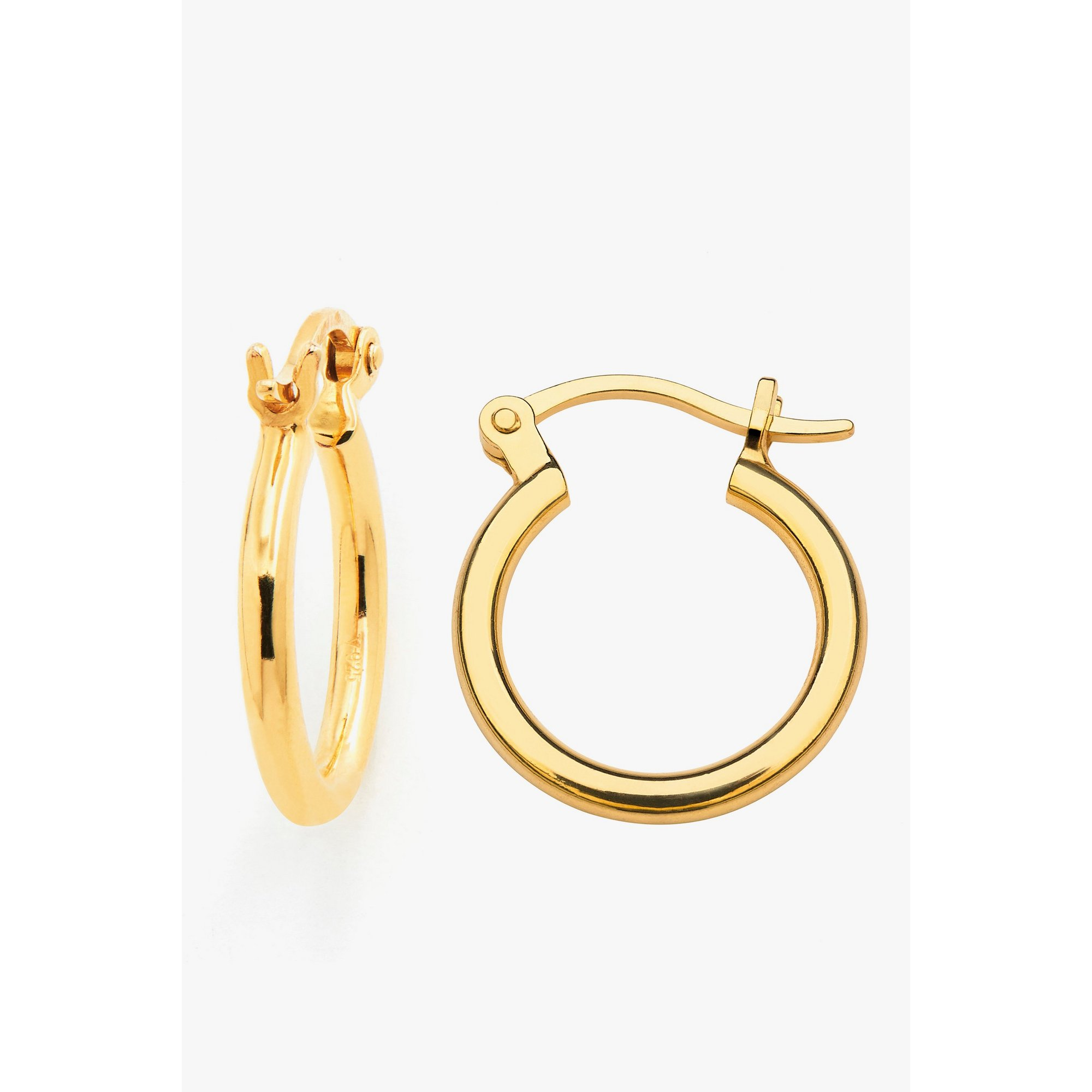 Image of Espree 12mm Gold Plated Hinged Hoop Earrings