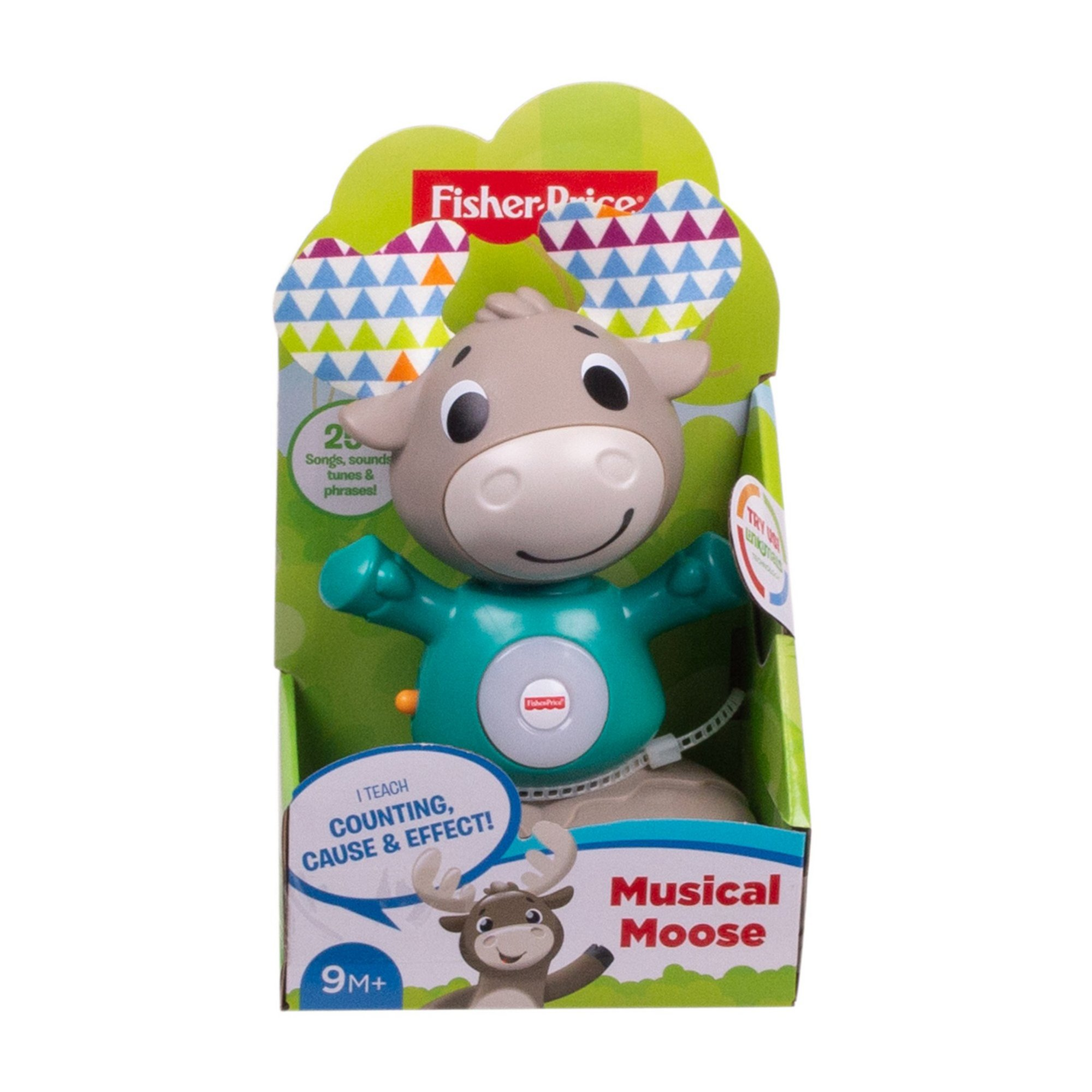 Image of Fisher Price Laugh and Learn Bobble Head Reindeer