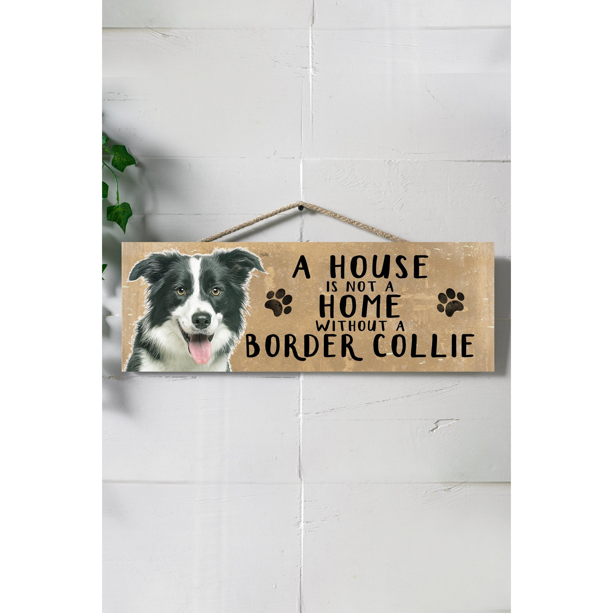 Image of A House is Not a Home Without a Border Collie Sign