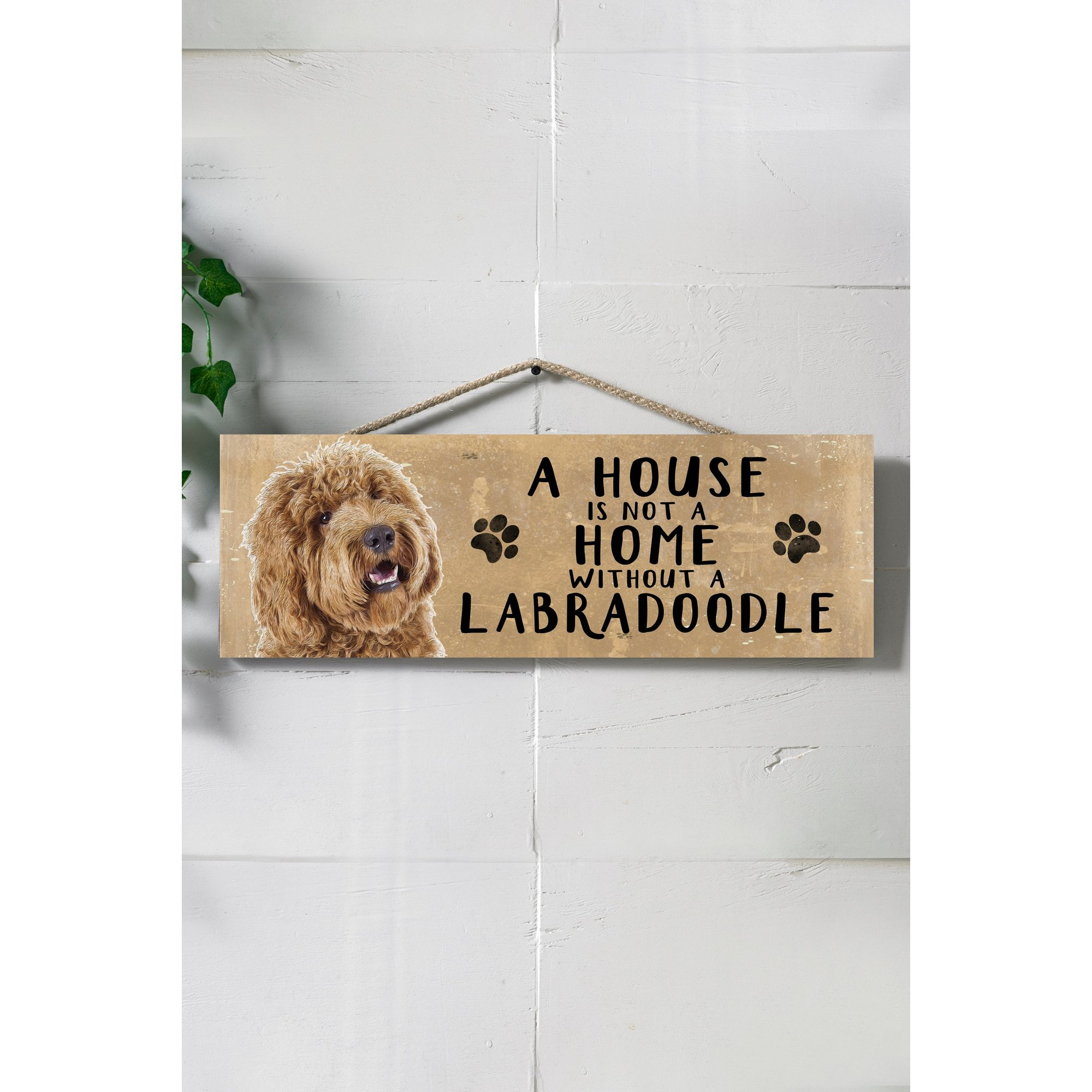 Image of A House is Not a Home Without a Labradoodle Sign