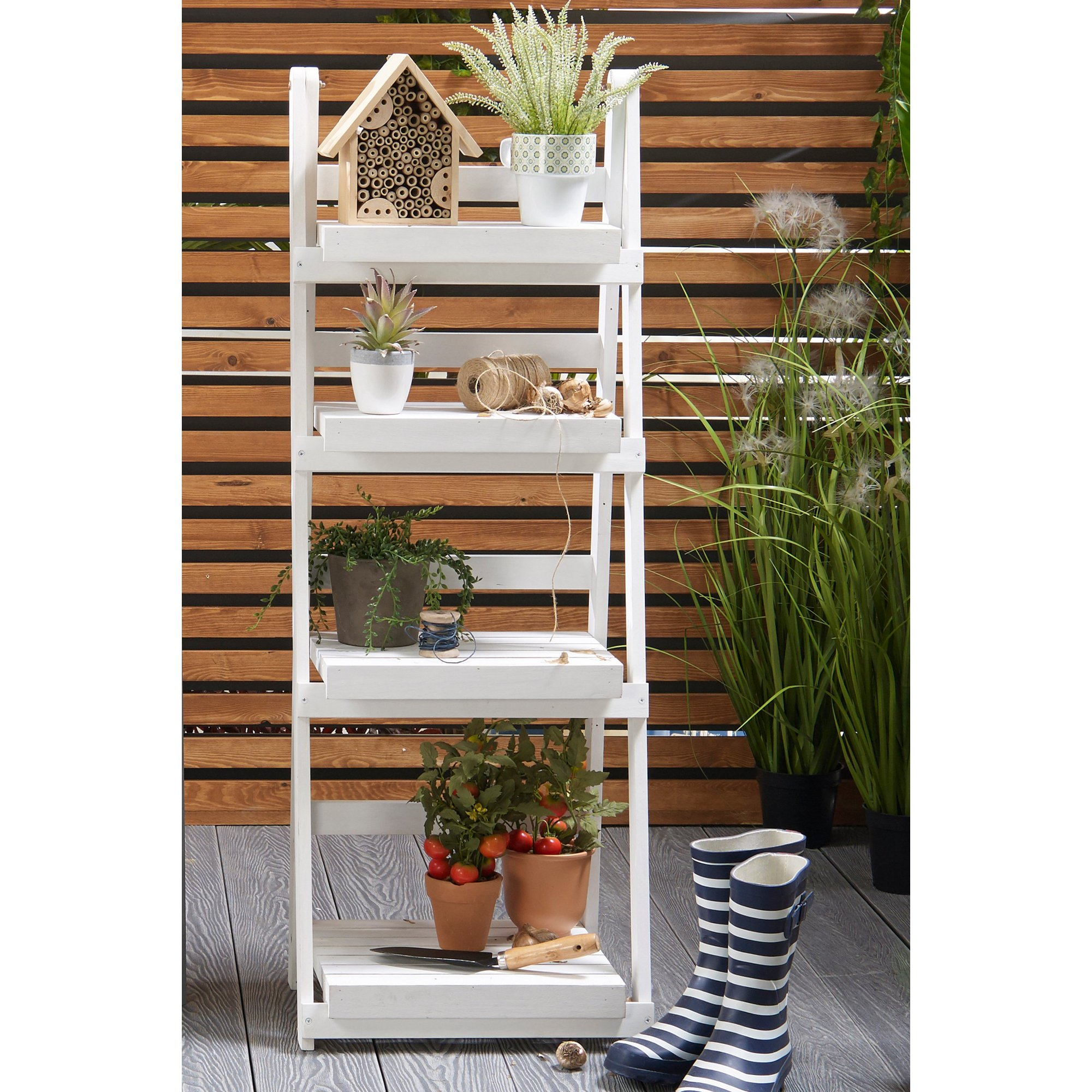 Image of 4-Tier Ladder Planter Stand