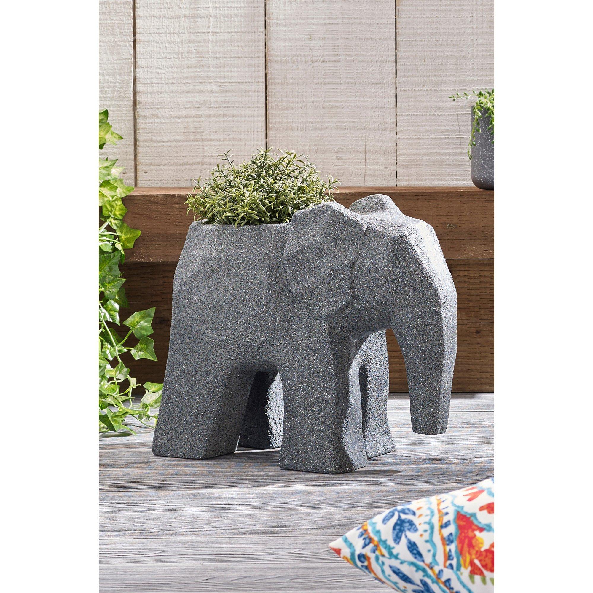 Image of Elephant Fibre Clay Planter