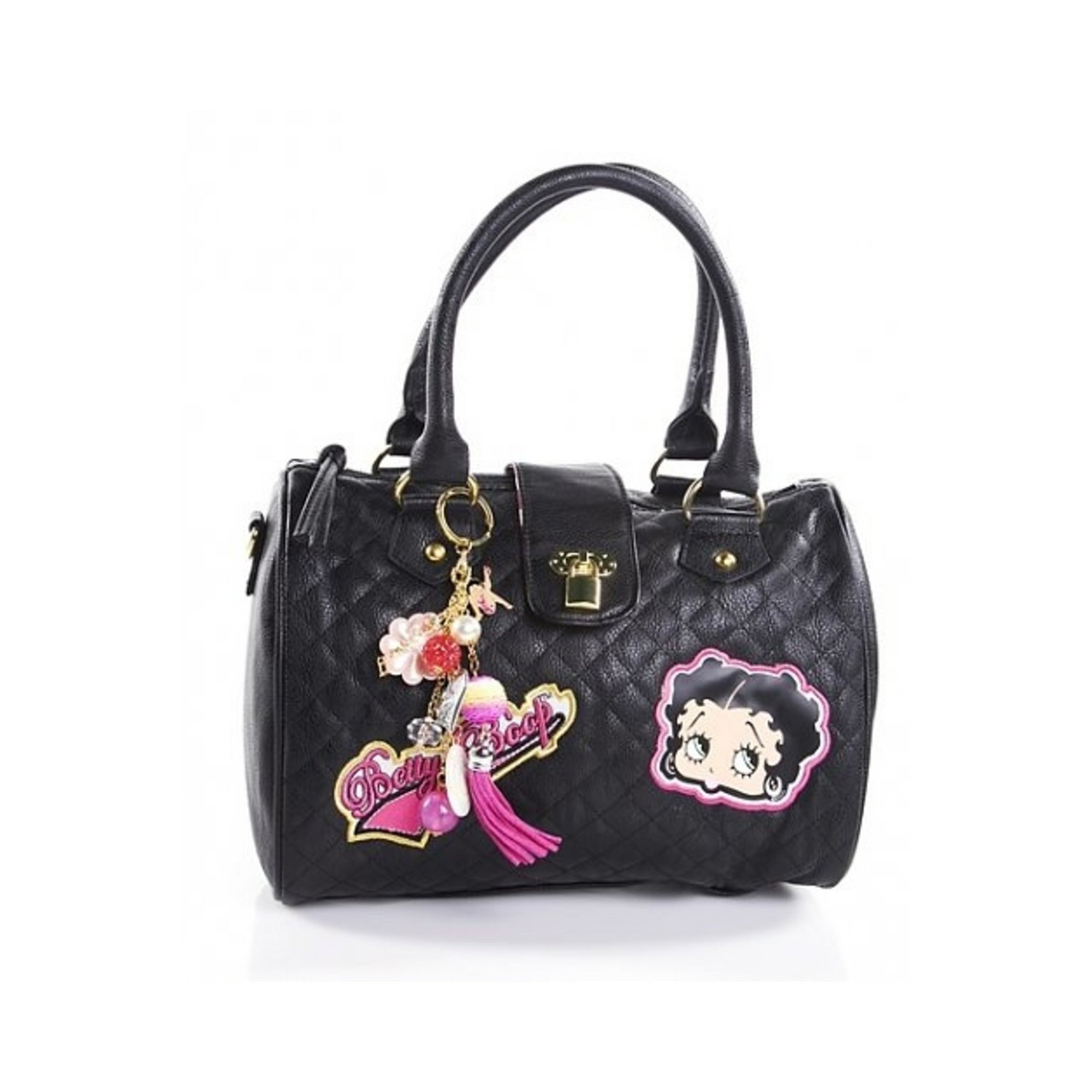 Image of Betty Boop Busy Bee Quilted Charm Bag