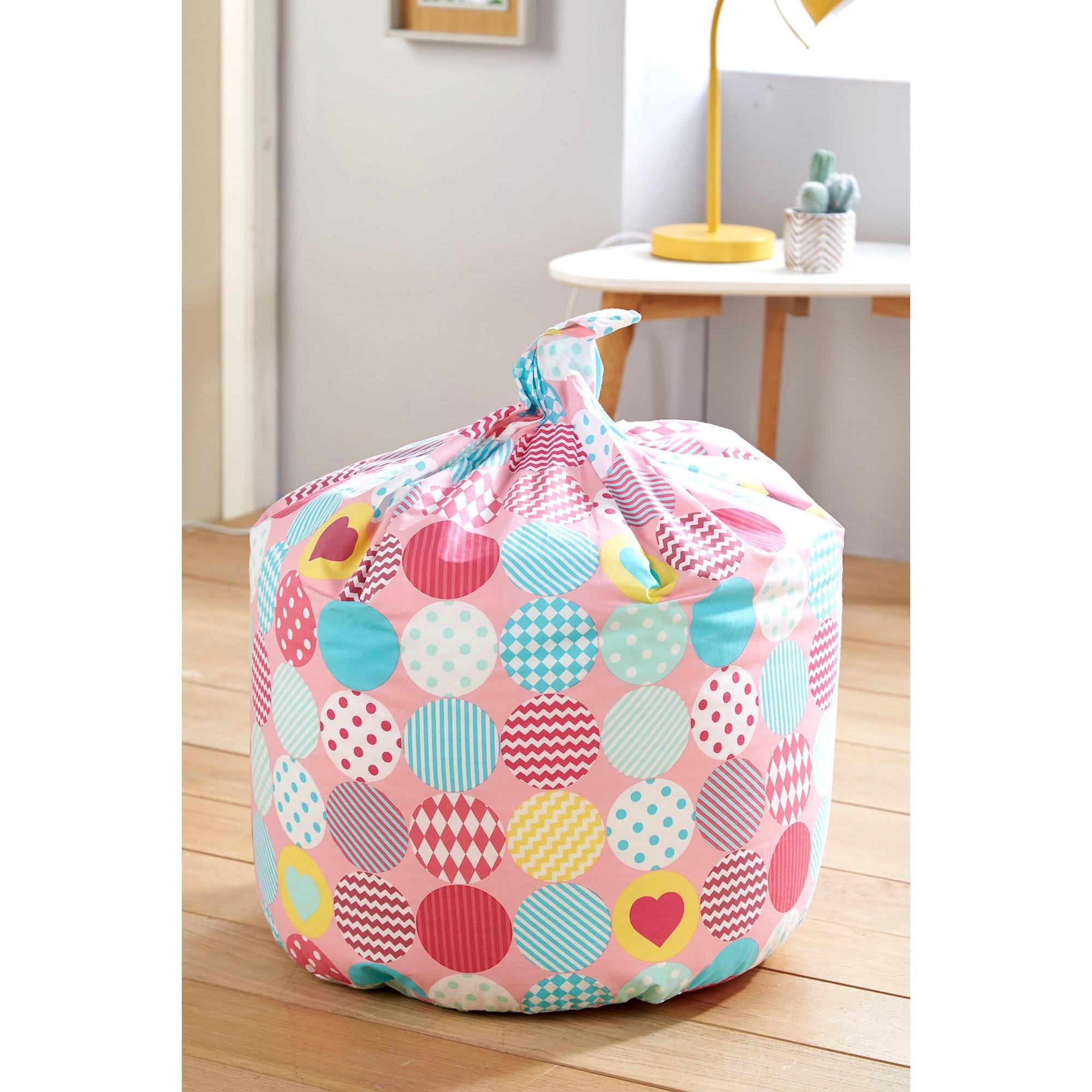 Image of Kids Pink Circle Bean Bag