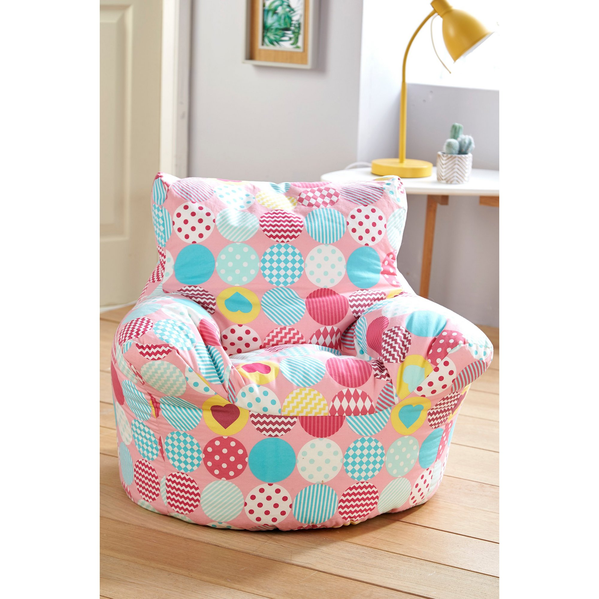 Image of Kids Pink Circle Bean Bag Seat