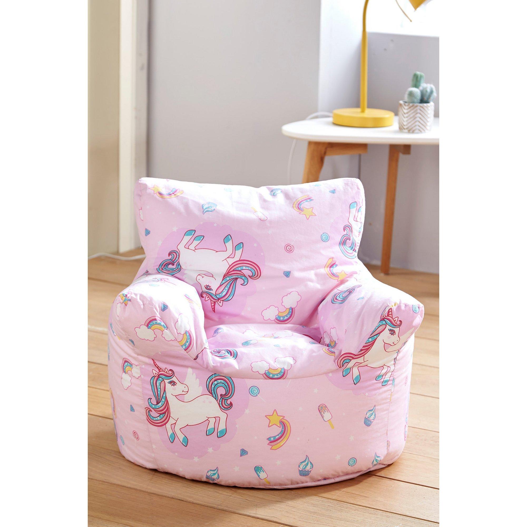 Image of Kids Unicorn Bean Bag Seat