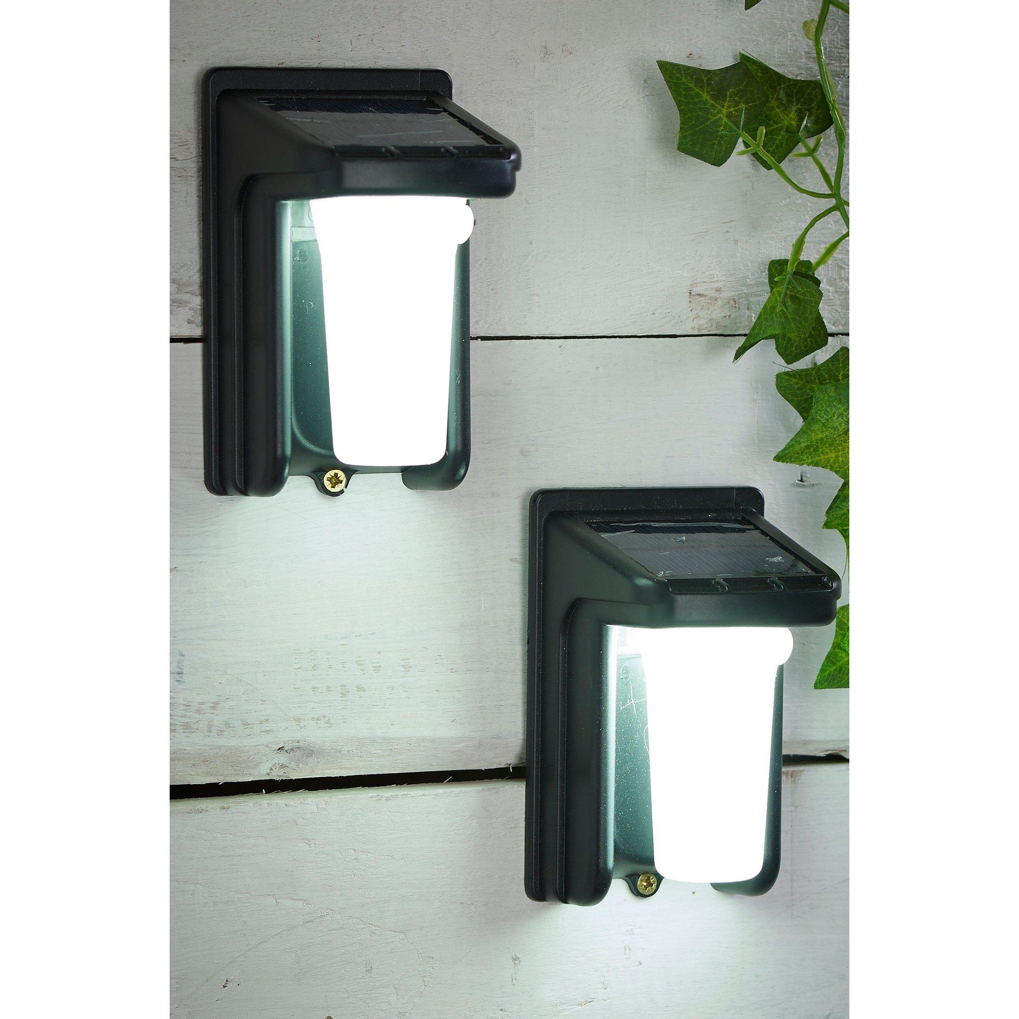 Image of Pair of Solar PIR Security Lights