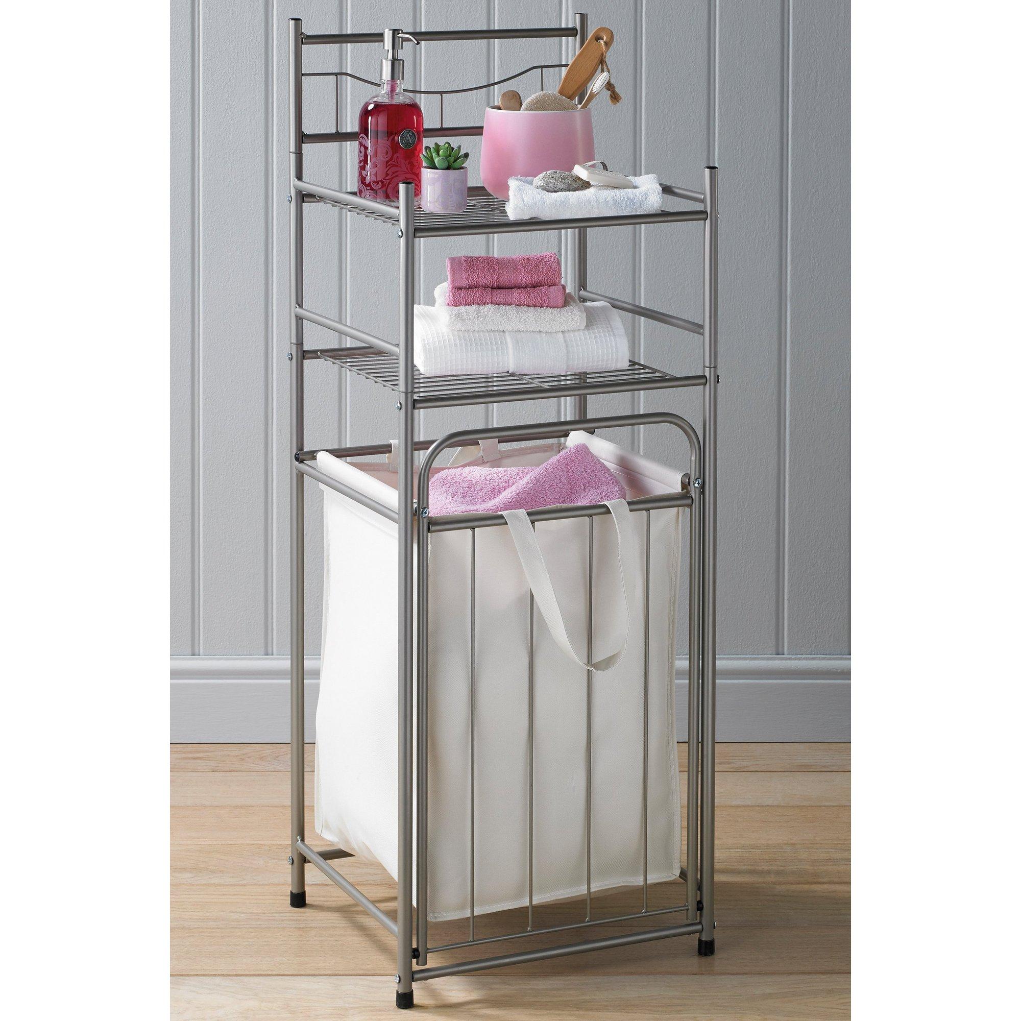 Image of Bathroom Rack with Laundry Hamper
