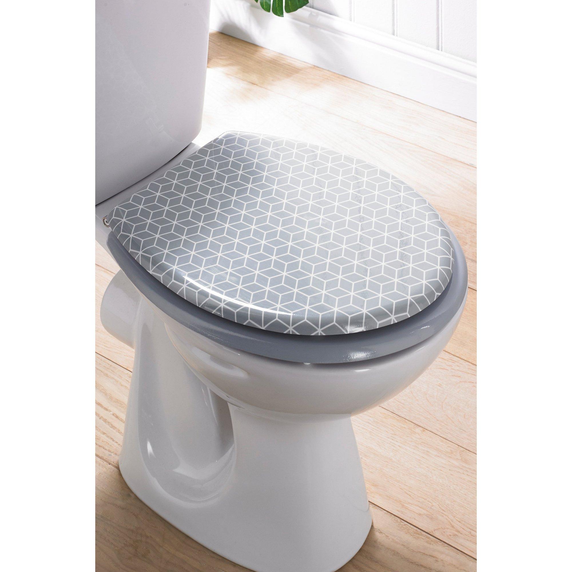 Image of Geometric Design Toilet Seat
