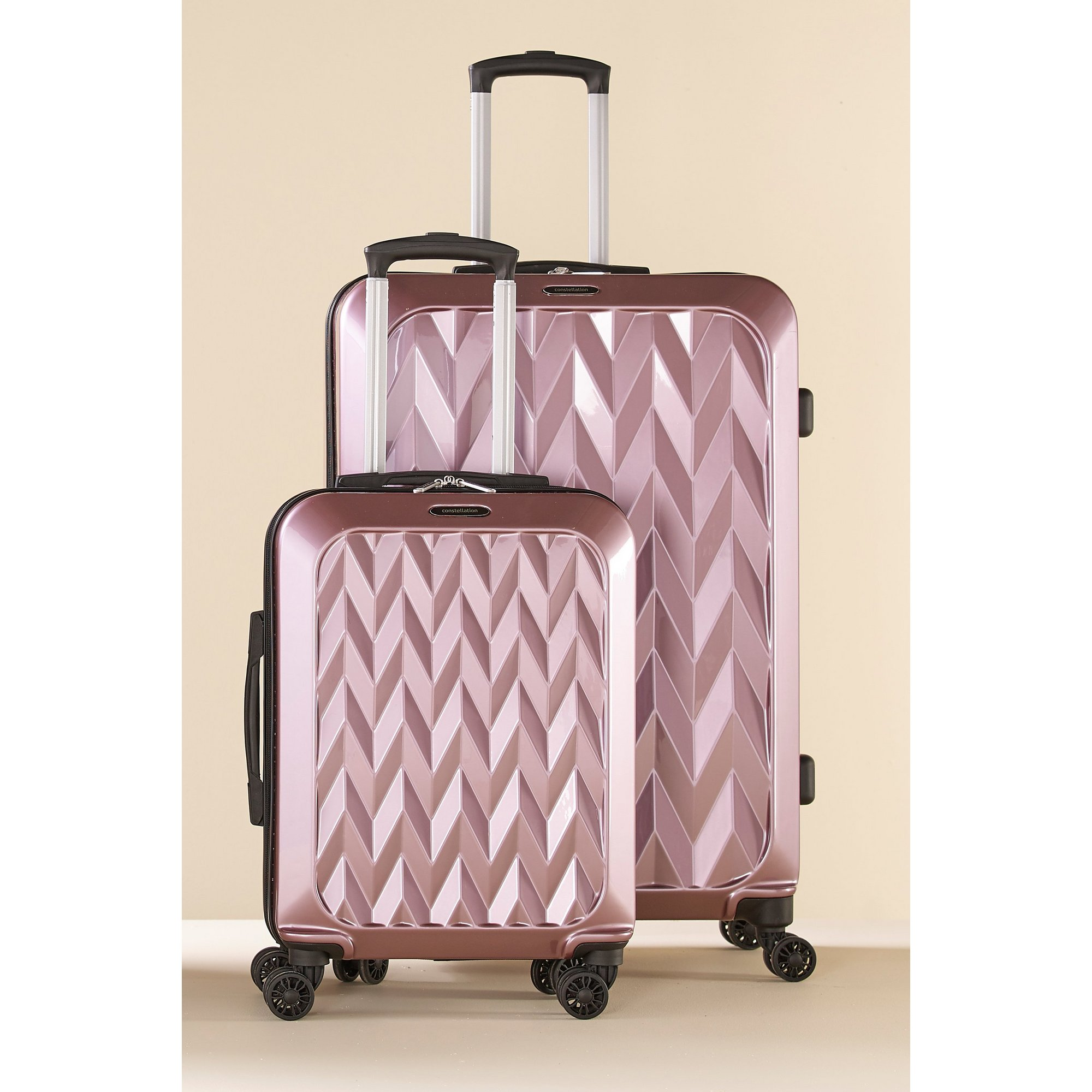 Image of Chevron 2-Piece Luggage Set