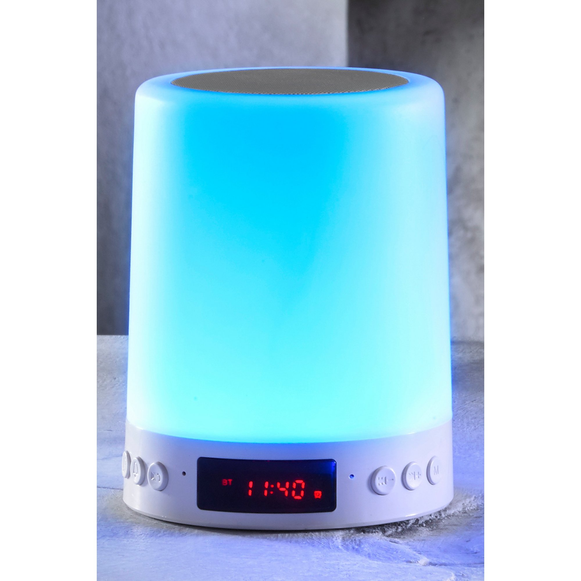 Image of Bluetooth Touch Lamp Speaker with Alarm Clock