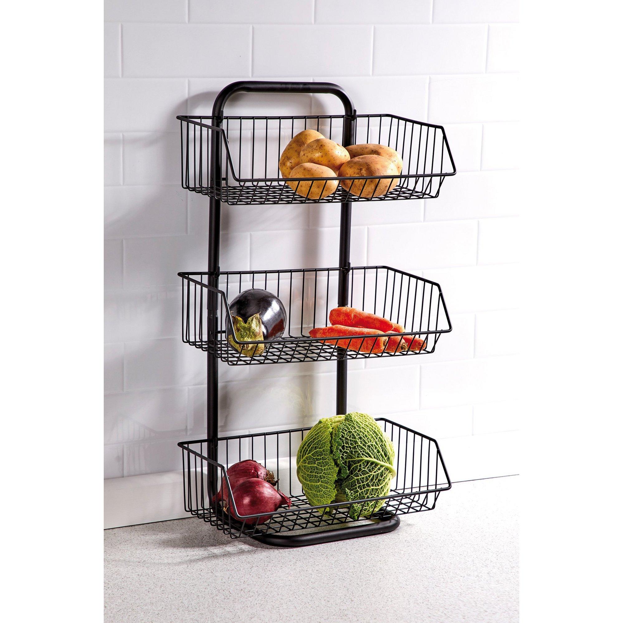 Image of 3-Tier Wire Vegetable Rack