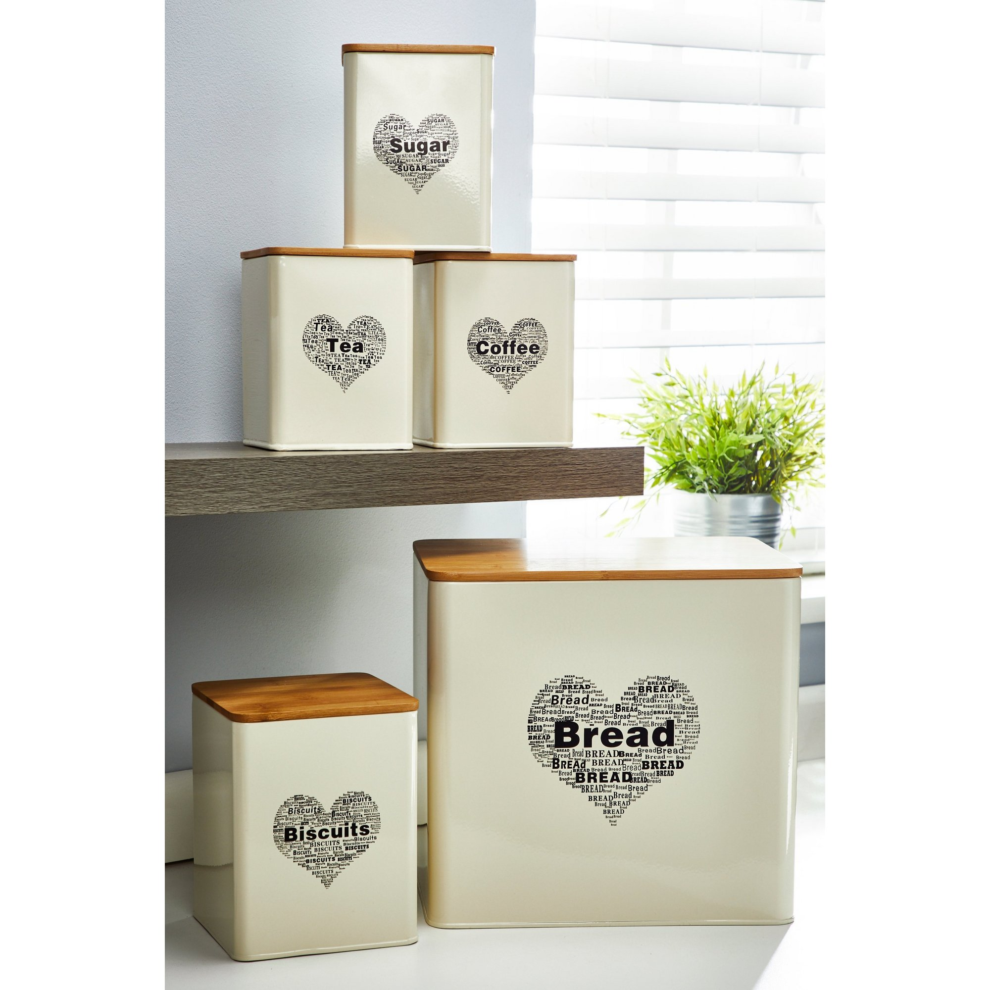 Image of 5-Piece Heart Storage Set