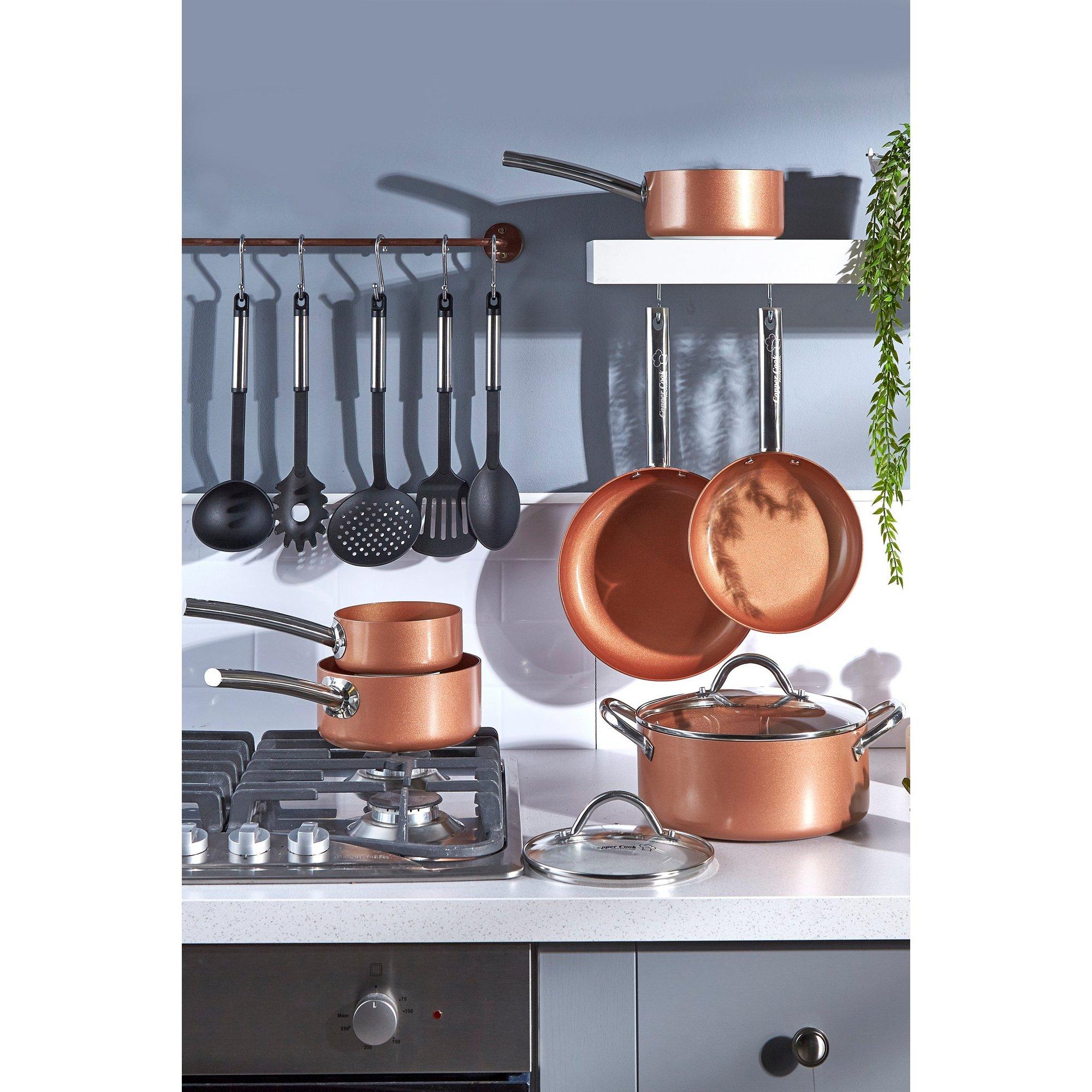 Image of Copper Cook Mega Value Pan Set