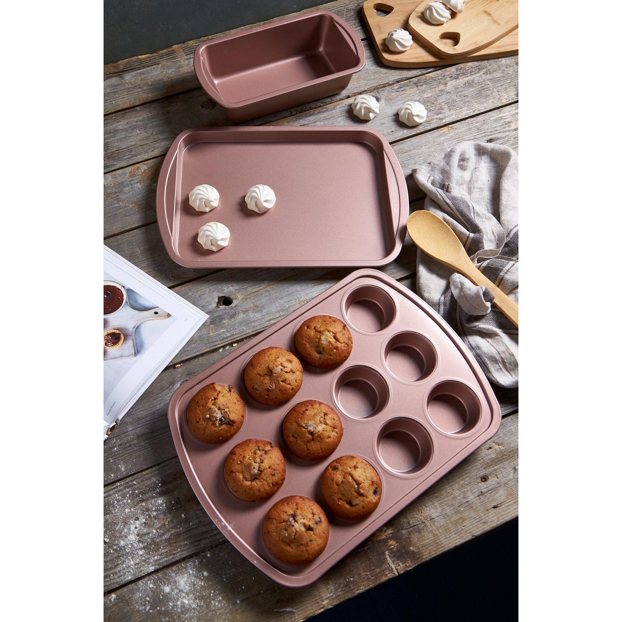 Image of 3-Piece Pink Bakeware Set