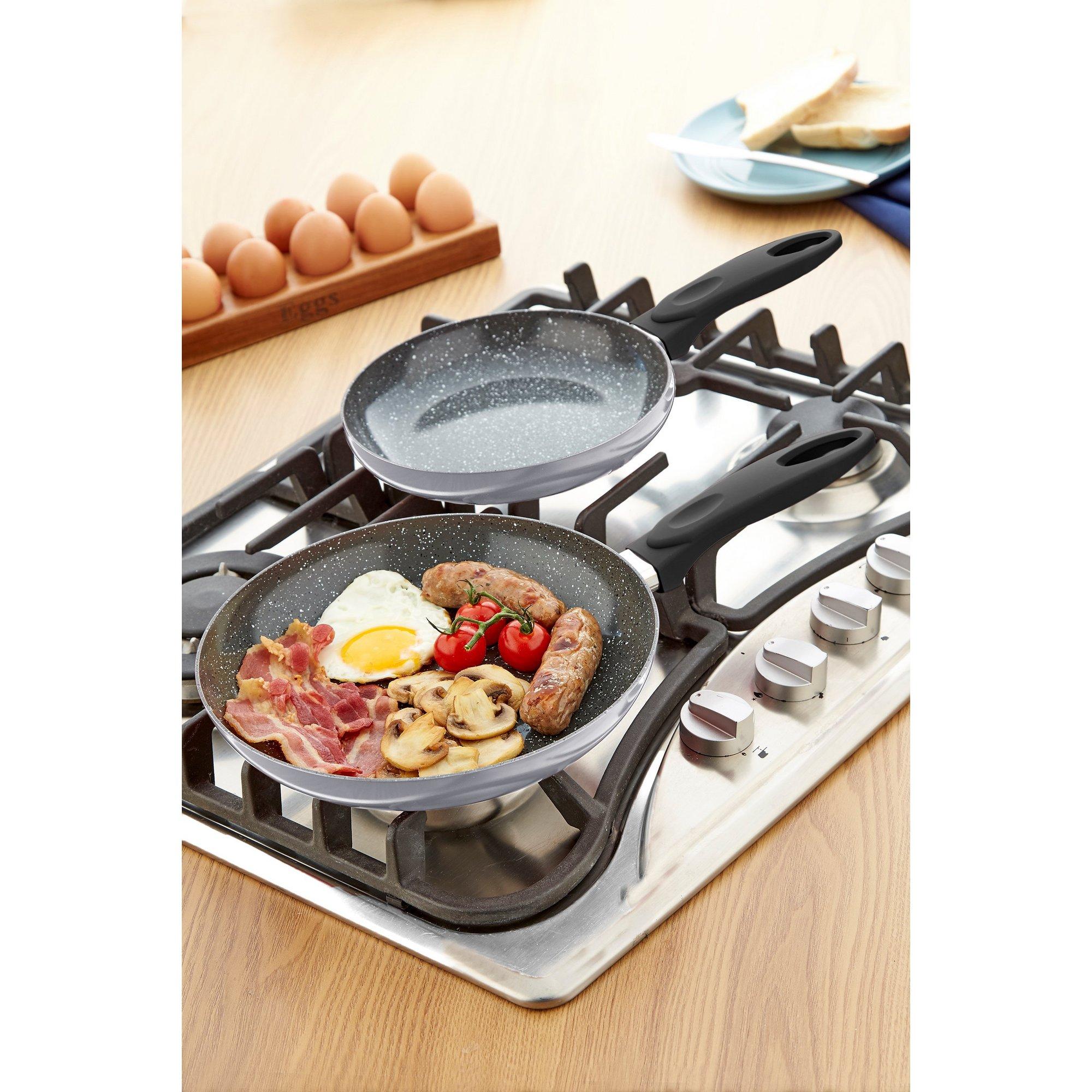 Image of 2-Piece Durastone Frying Pan Set