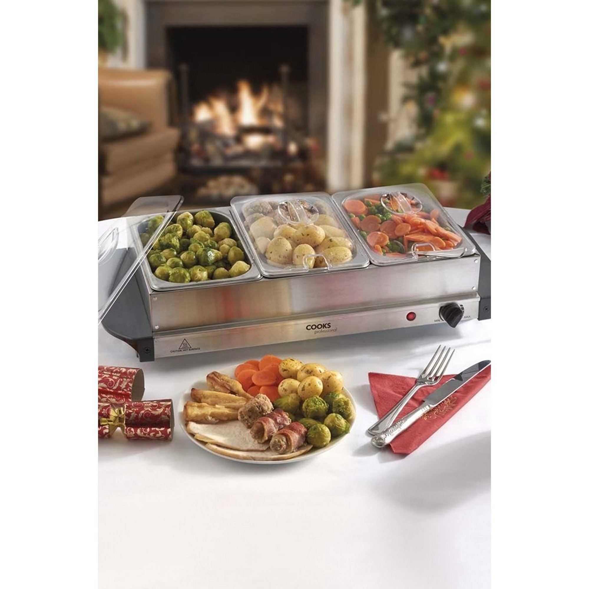 Image of Cooks Professional Three Section Buffet Warmer