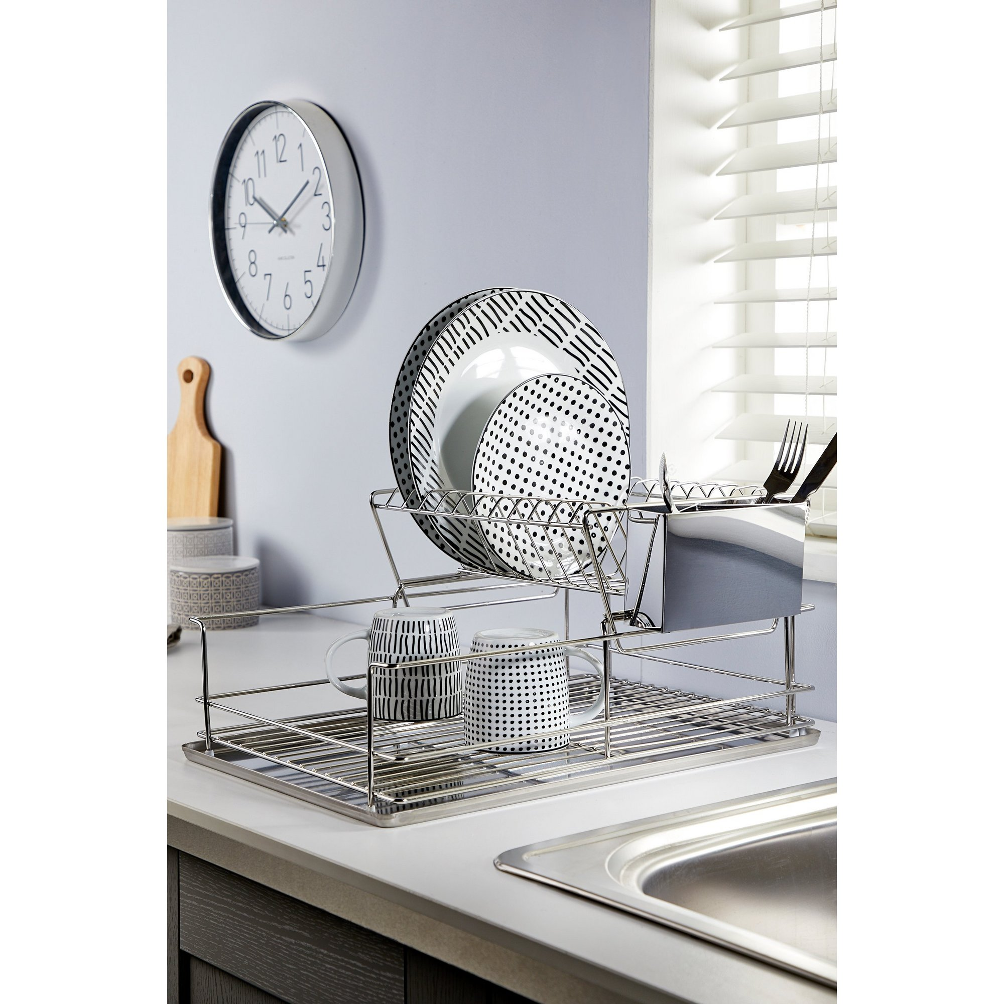 Image of 2-Tier Stainless Steel Dish Drainer