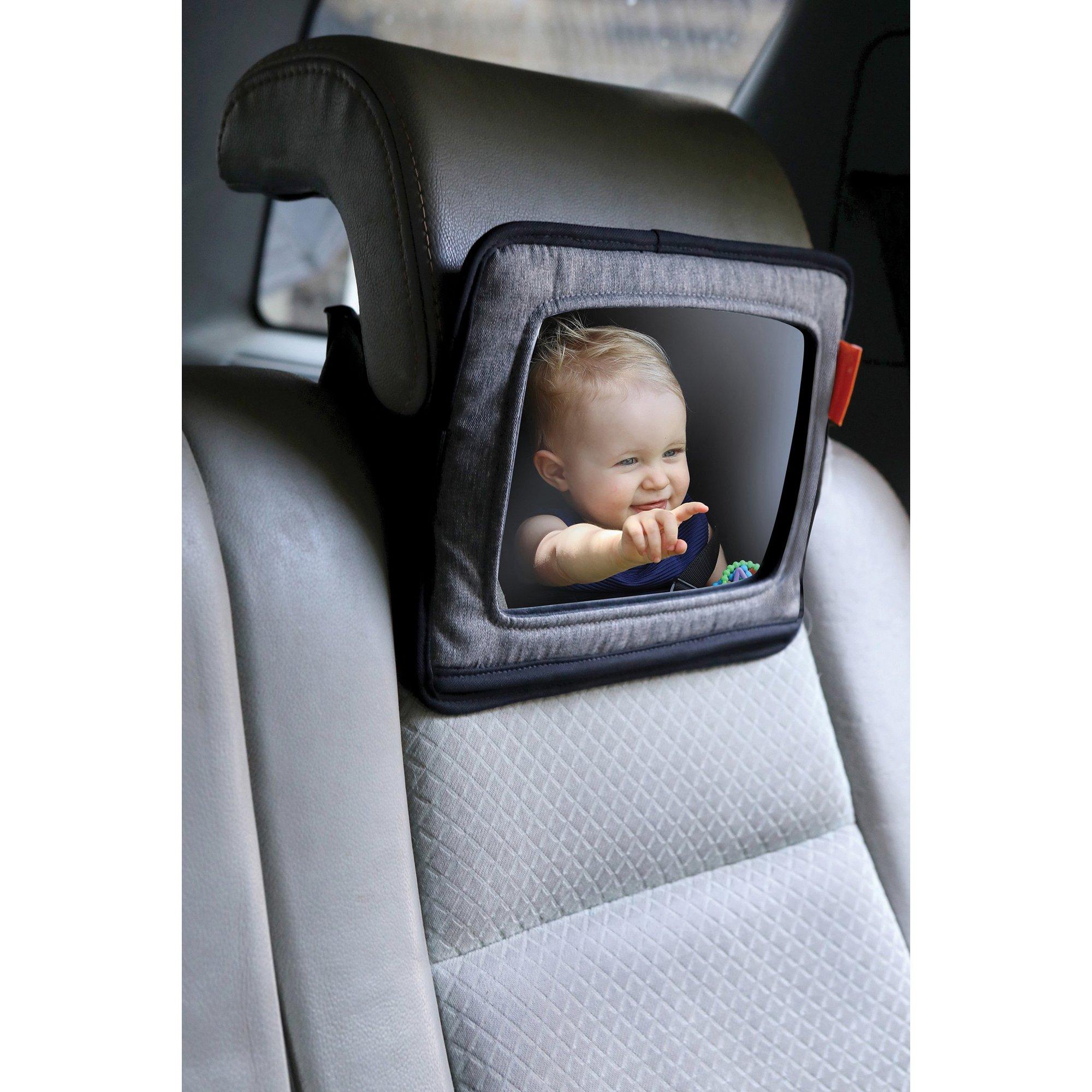 Image of Backseat Mirror with Ipad Holder – Grey