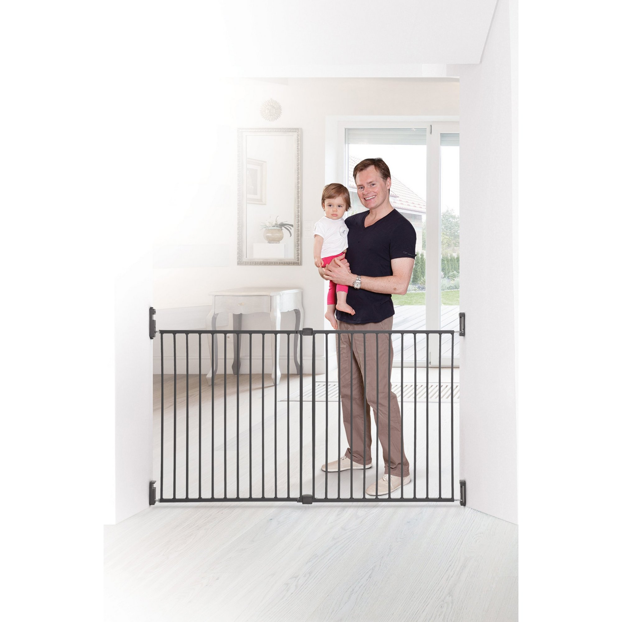 Image of Broadway Xtra-Wide Gro-Gate - Charcoal