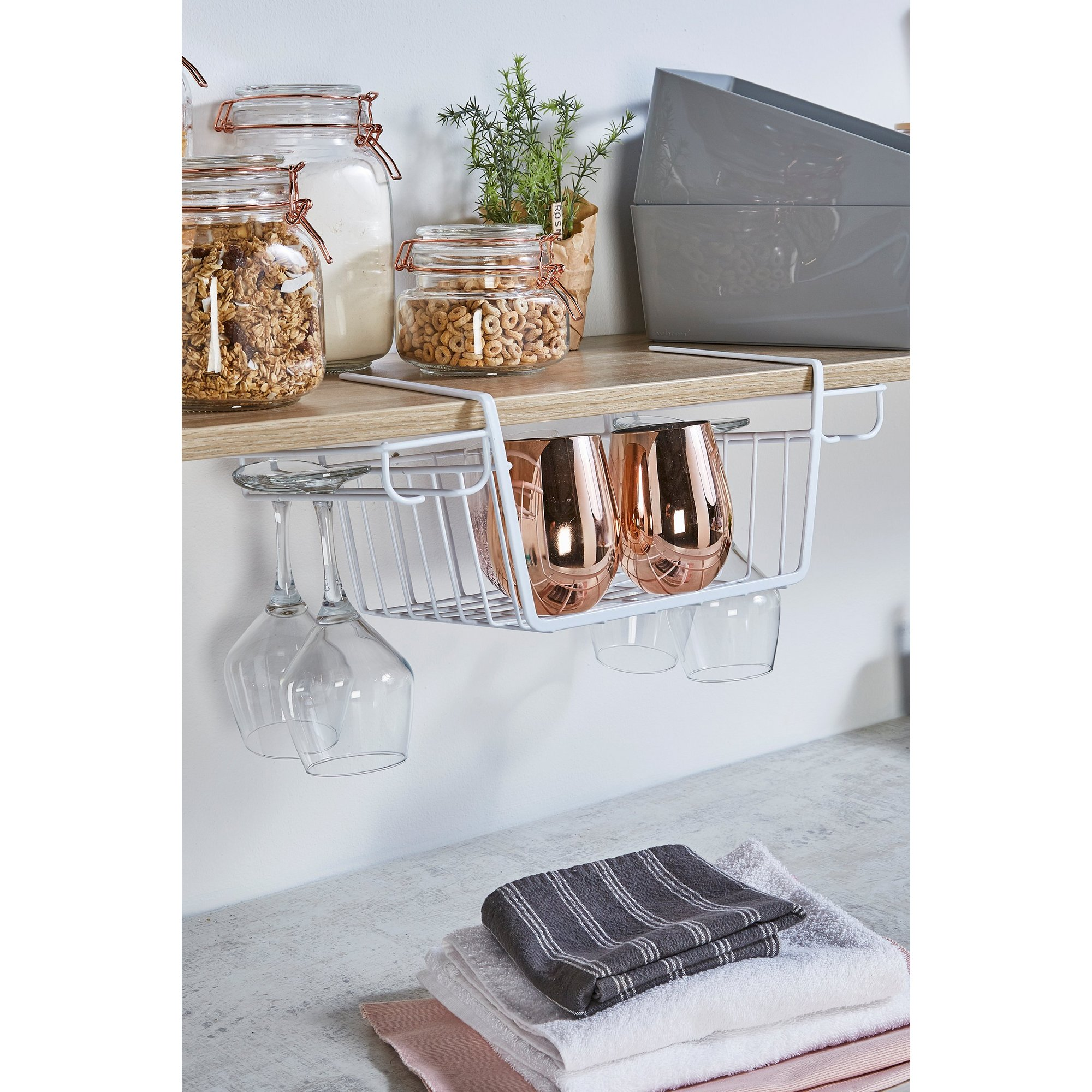 Image of Over Shelf Basket with Cup Holder