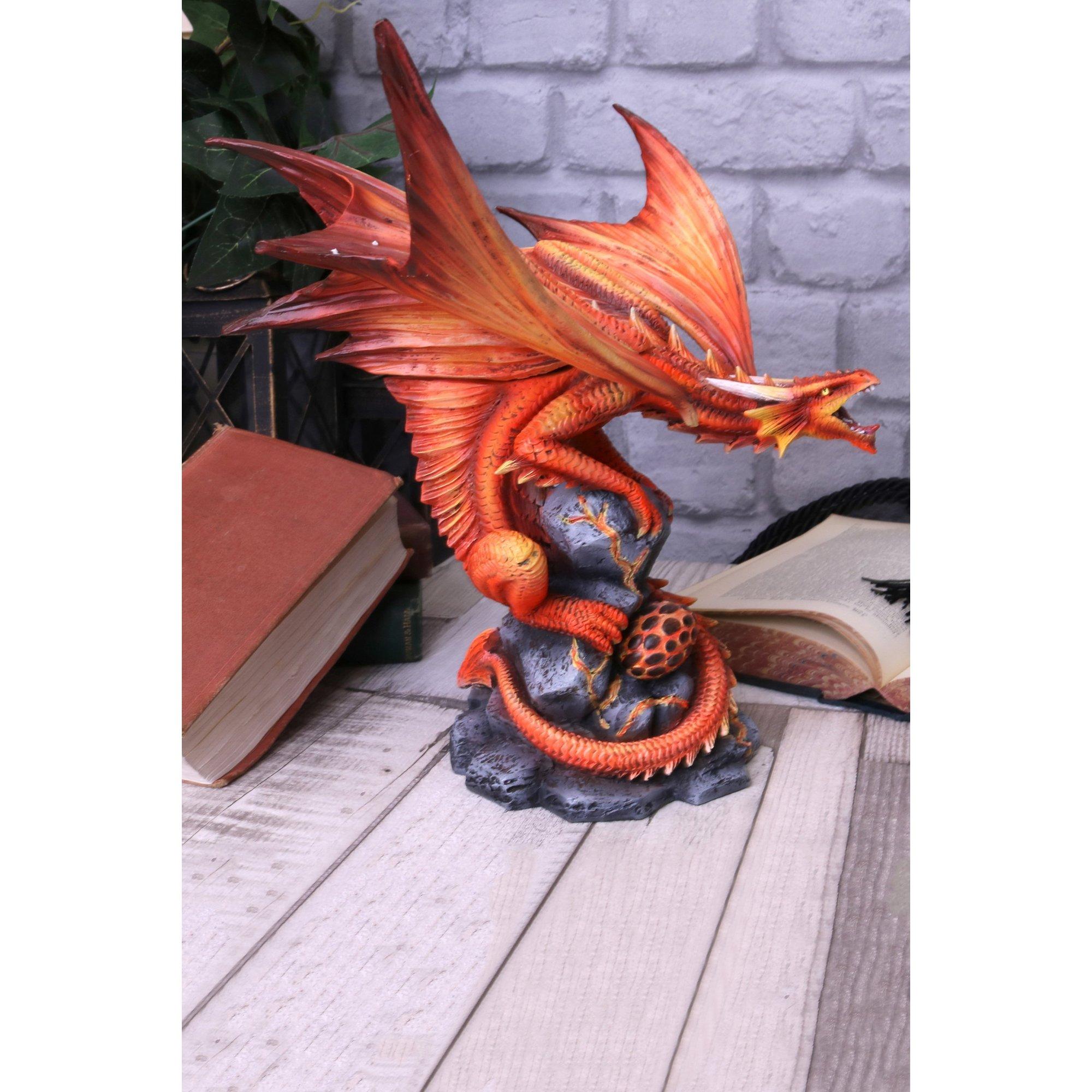Image of Adult Fire Dragon Figurine