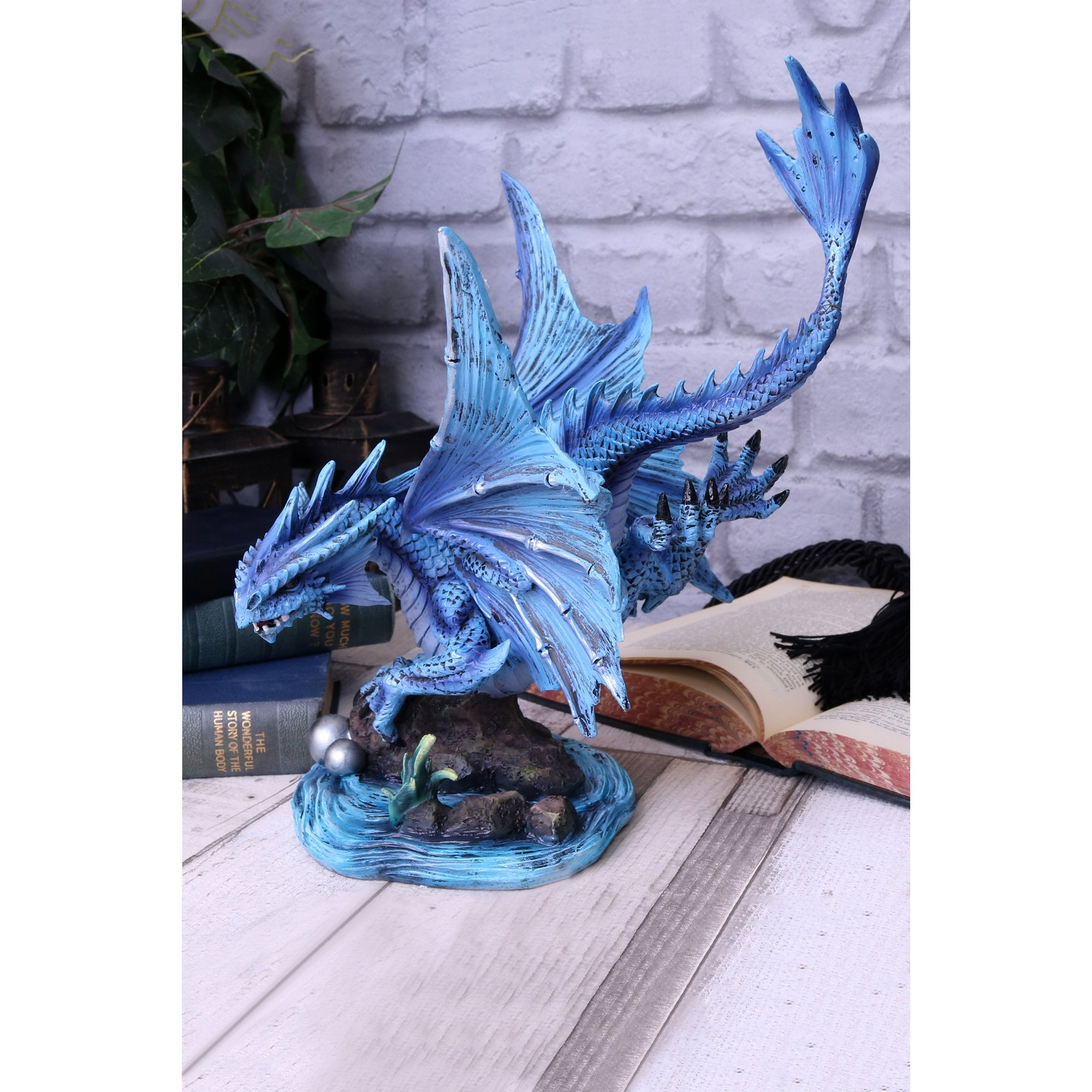 Image of Adult Water Dragon Figurine