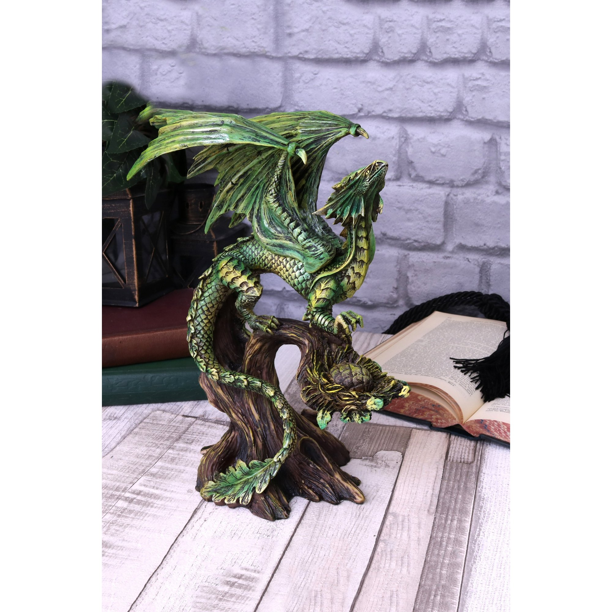 Image of Adult Forest Dragon Figurine