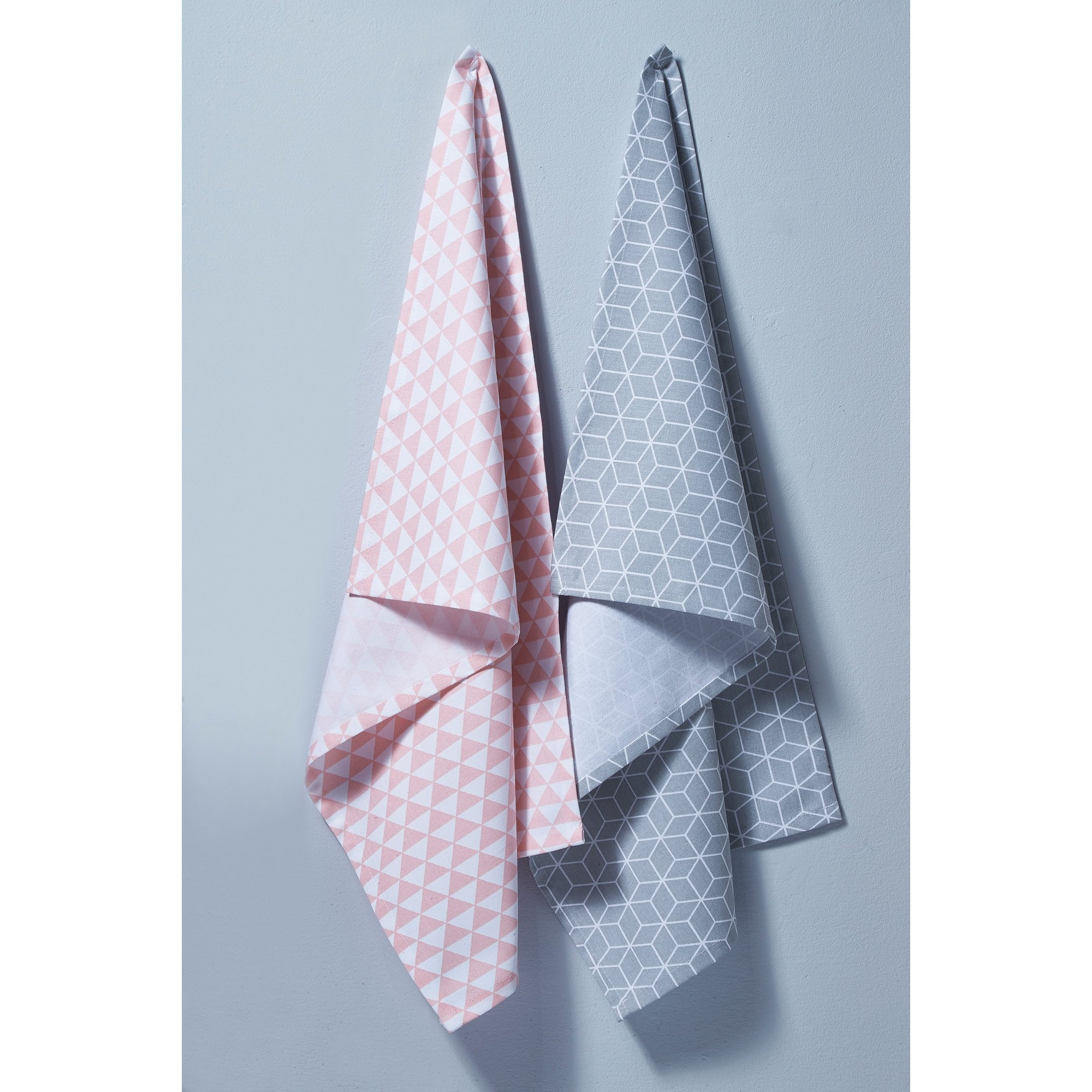 Image of Set of 2 Geo Tea Towels