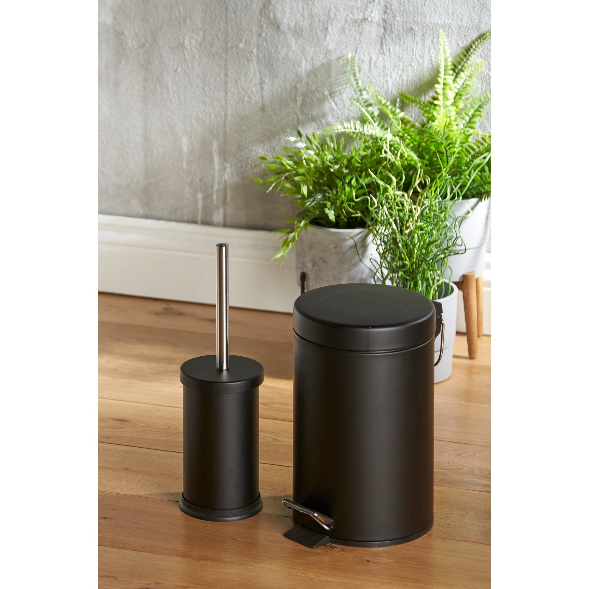 Image of 3 Litre Pedal Bin and Toilet Brush Set