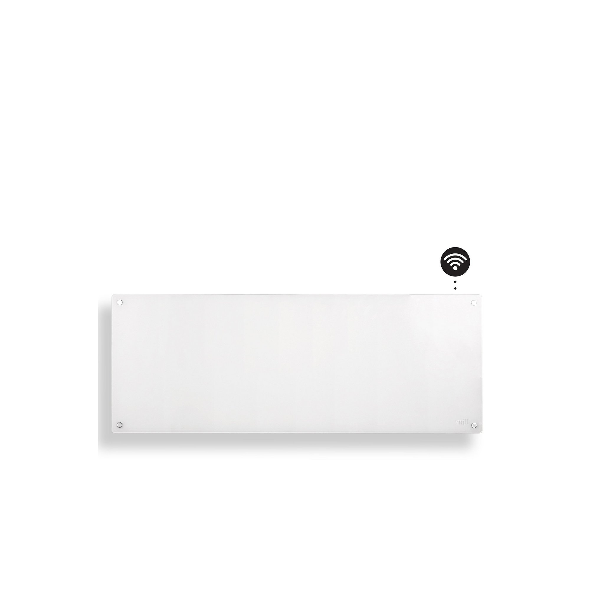 Image of Mill Heat 1200W Glass Front Panel Heater with WiFi