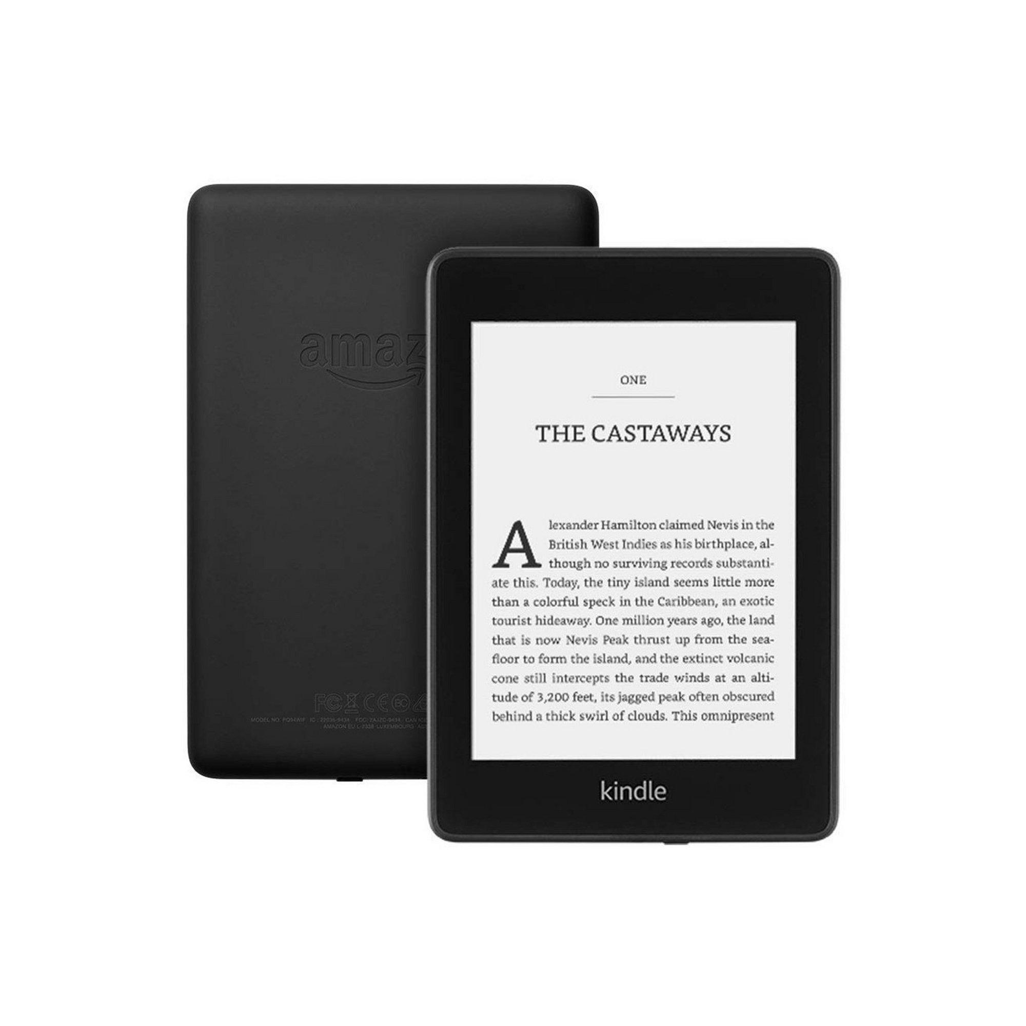 Image of Amazon Kindle Paperwhite 8GB E-Reader 2018 - Black Case Bundle