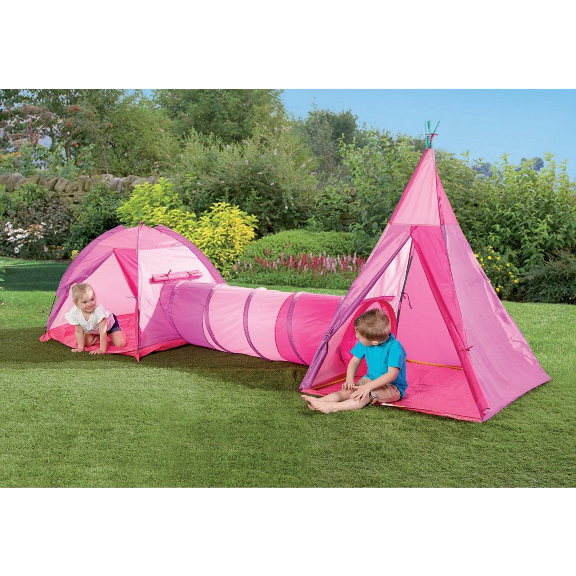 Image of 3-in-1 Adventure Play Pink Tent