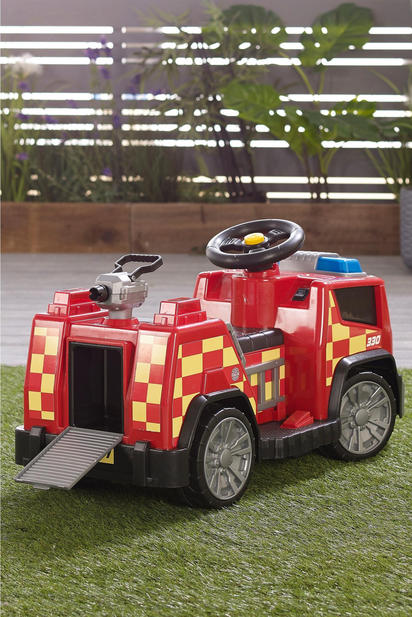 Fire Engine Ride On 6v Electric Fire Engine Kids