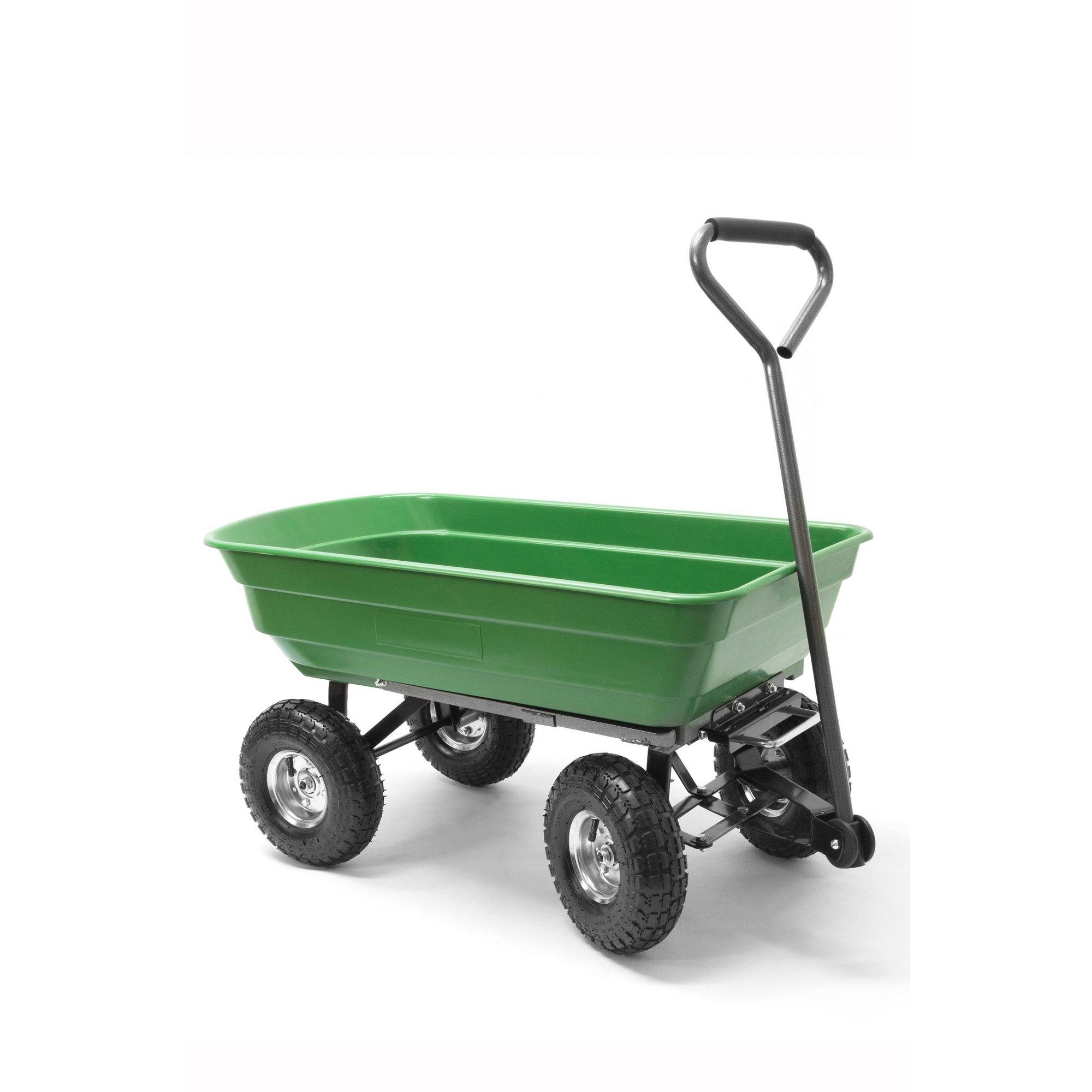 Image of 150kg Garden Poly Dump Cart
