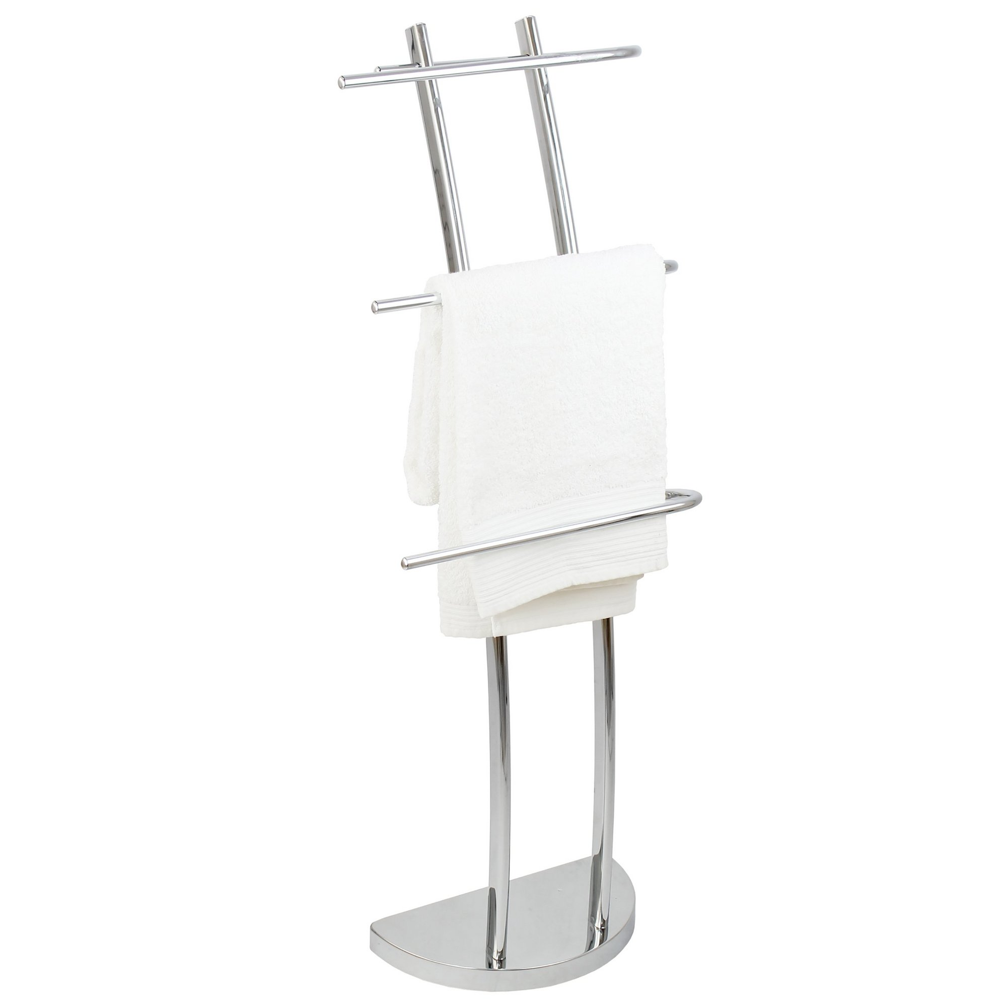 Image of Lloyd Pascal Chrome 3 Arm Arched Towel Stand