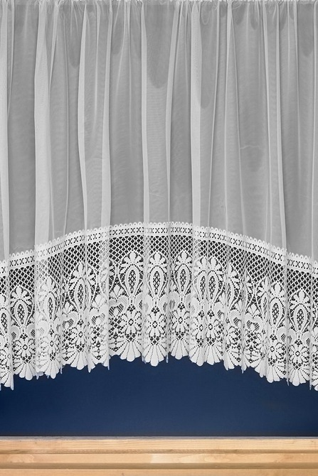 WHITE LACE FABRIC 100/% POLYESTER width 114cms great for weddings NET CURTAIN