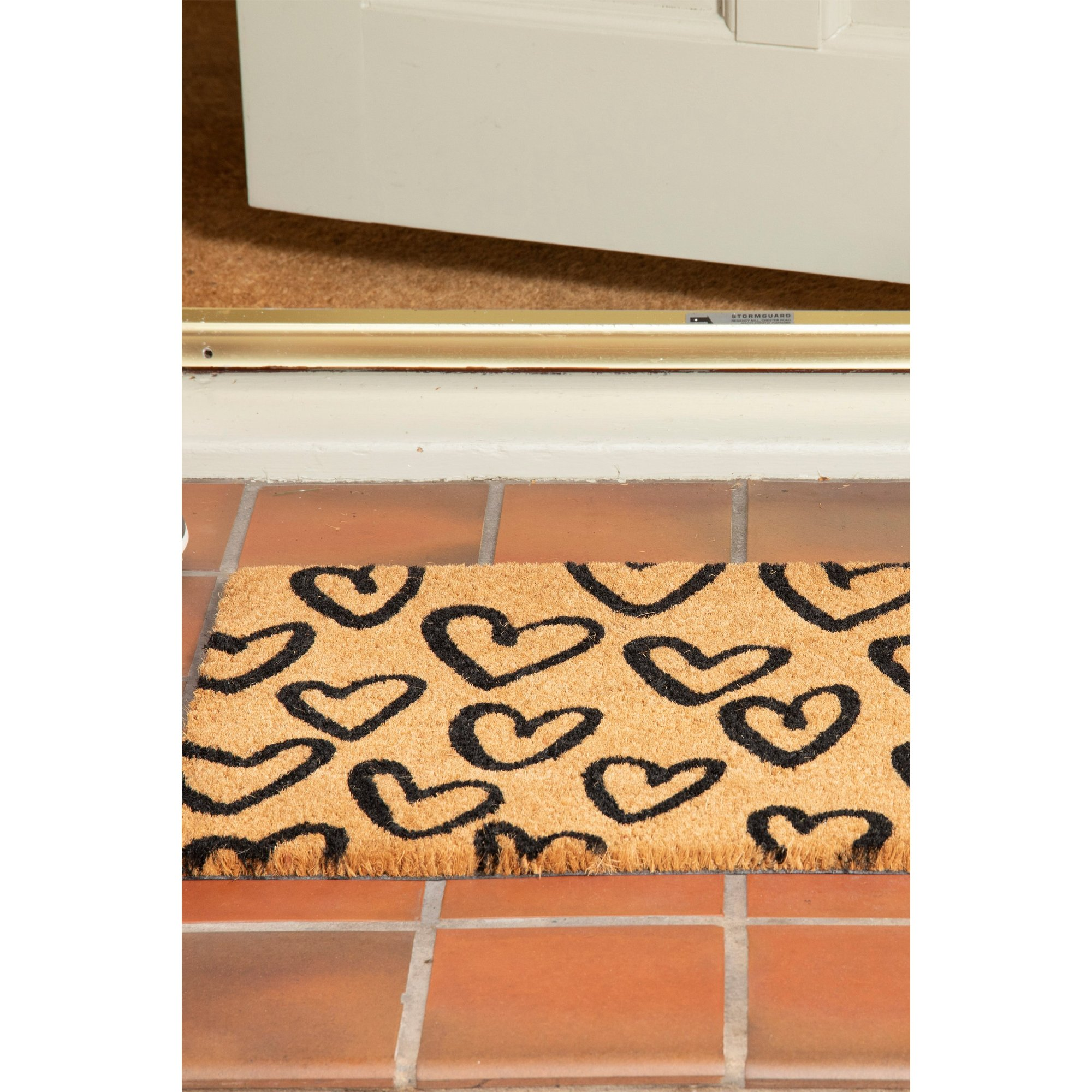 Image of Astley Hearts Printed Coir Mat