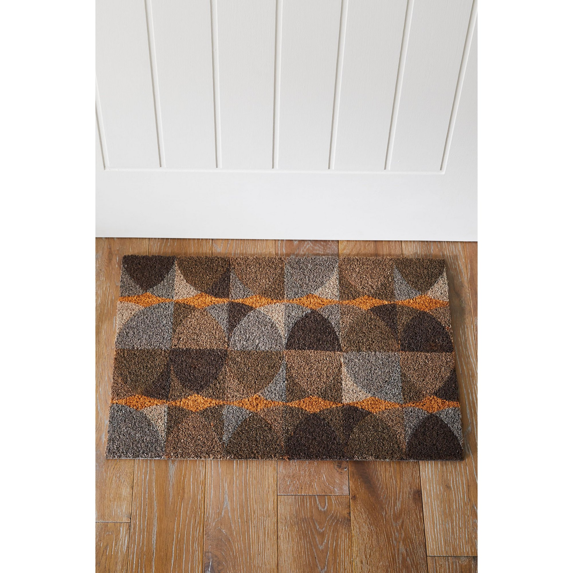 Image of Astley Geo Circles Printed Coir Mat