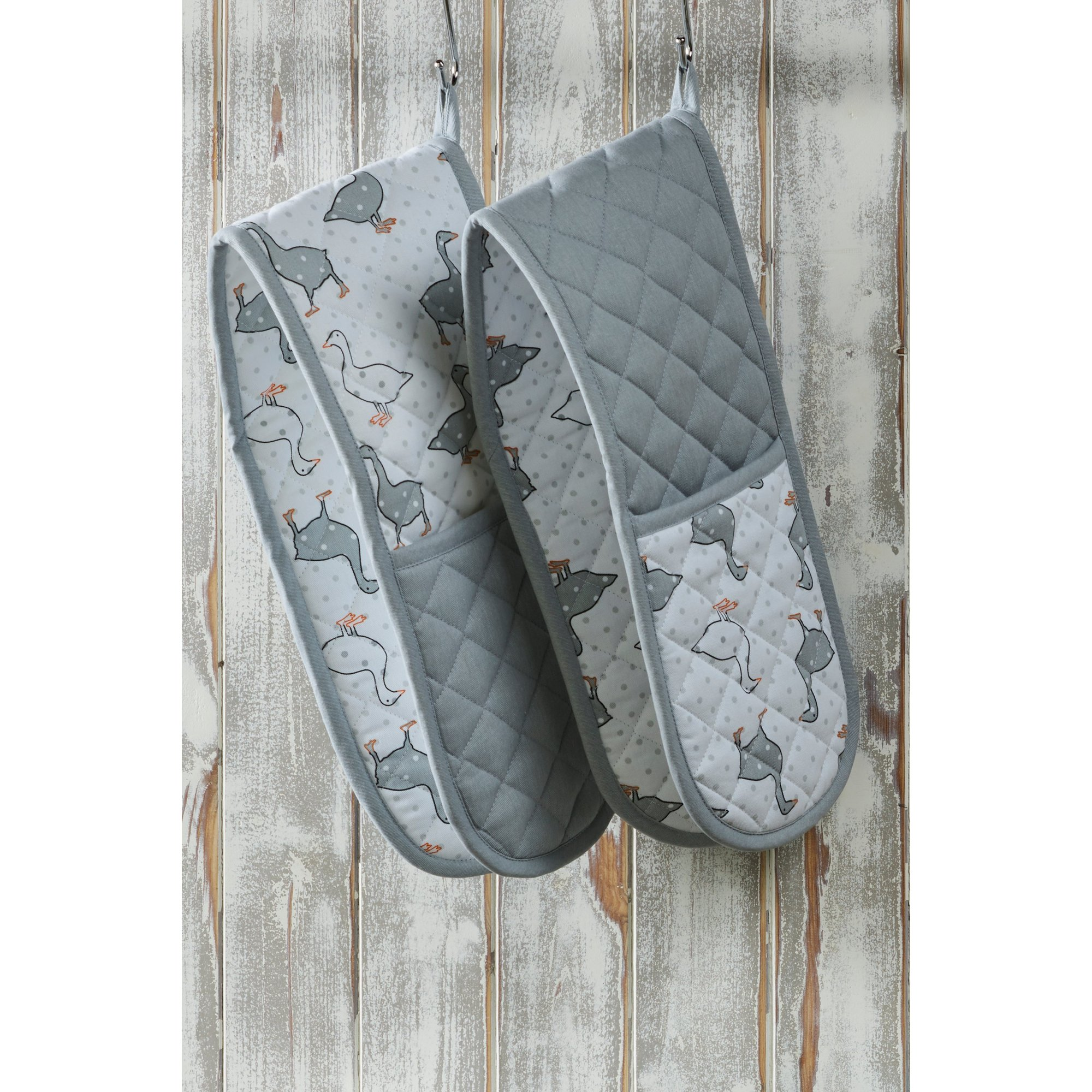 Image of Set of 2 Geese Double Oven Gloves