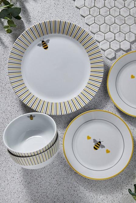 12 Piece Porcelain Bee Dinner Set Studio