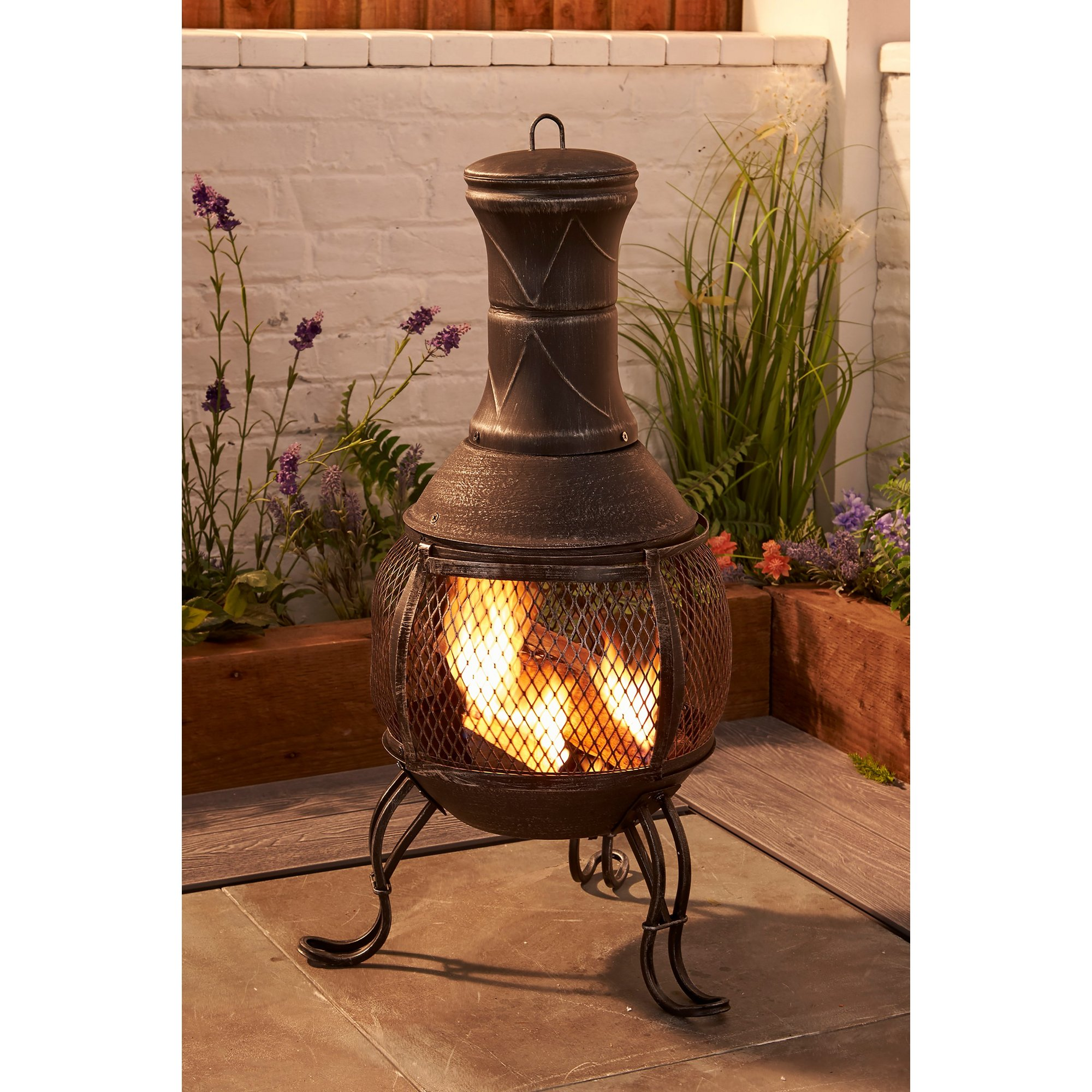Image of Cast Iron and Steel Chiminea
