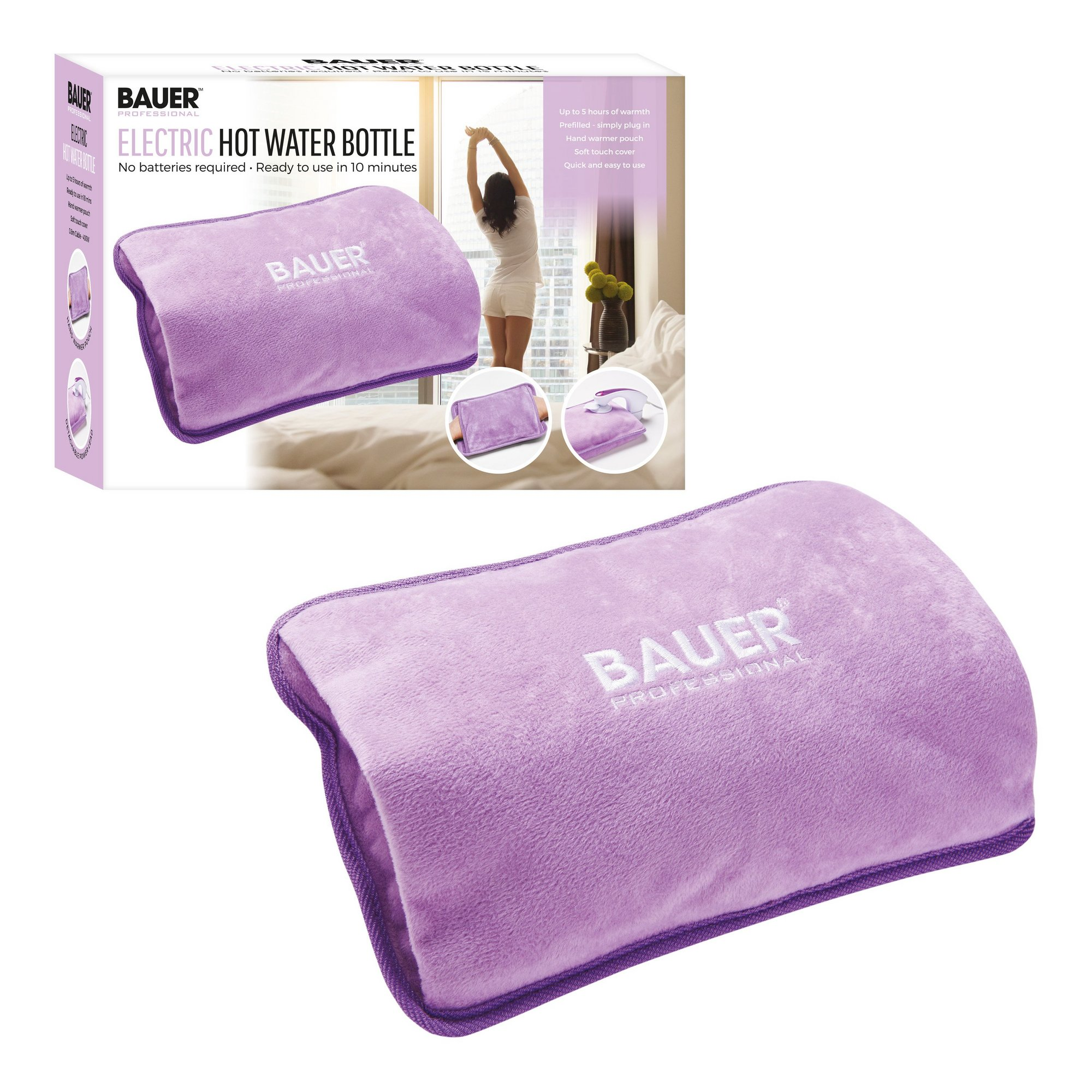 Image of Bauer Rechargeable Electric Hot Water Bottle