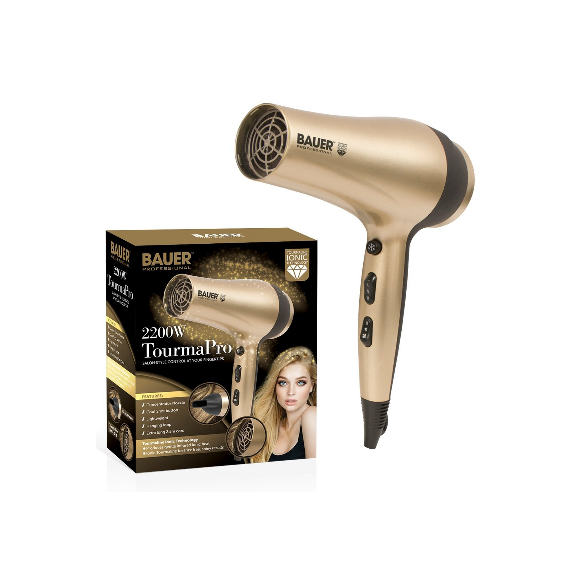 Image of Bauer Tourma Pro Ionic Hair Dryer