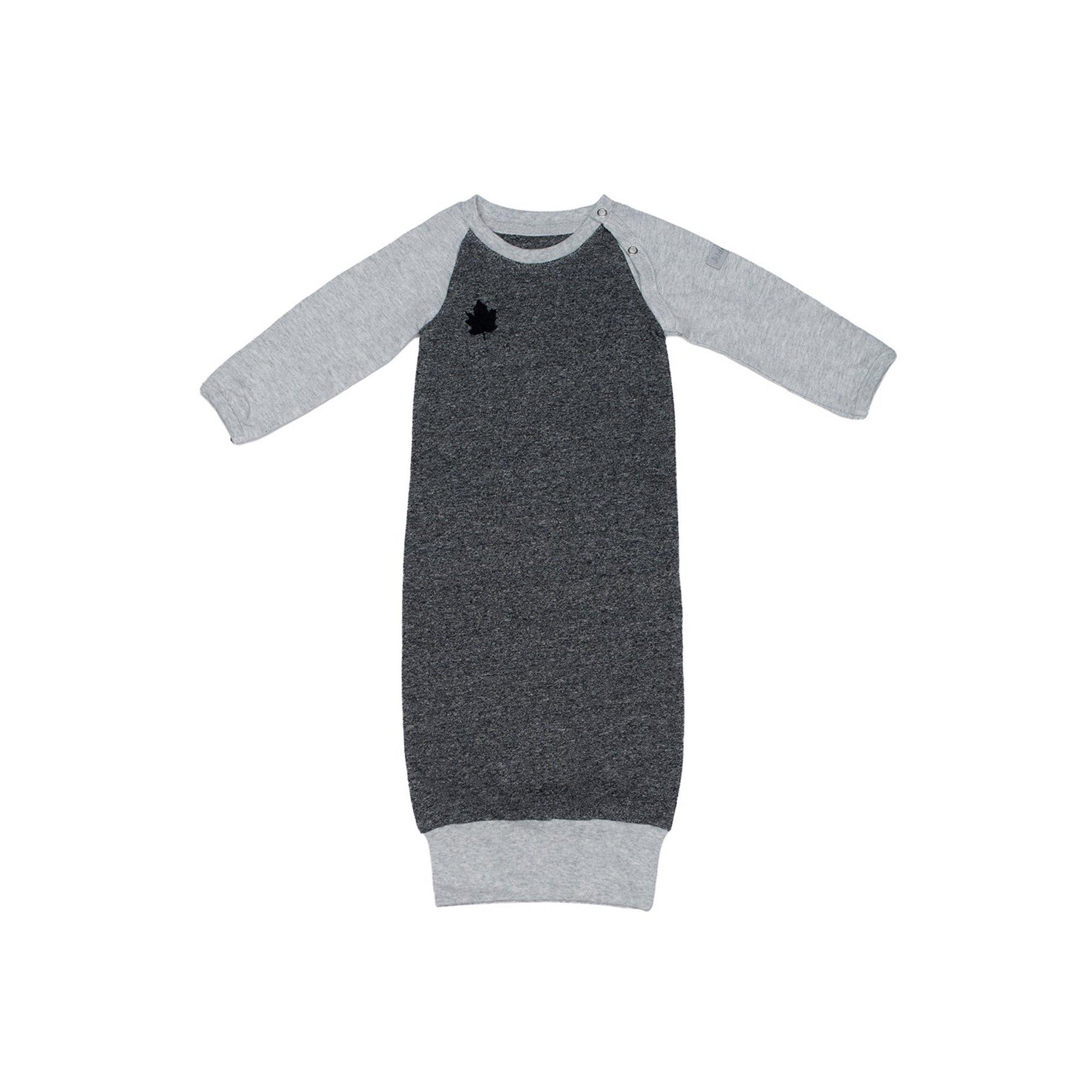 Image of Juddlies Raglan Collection Nightgown Graphite Black