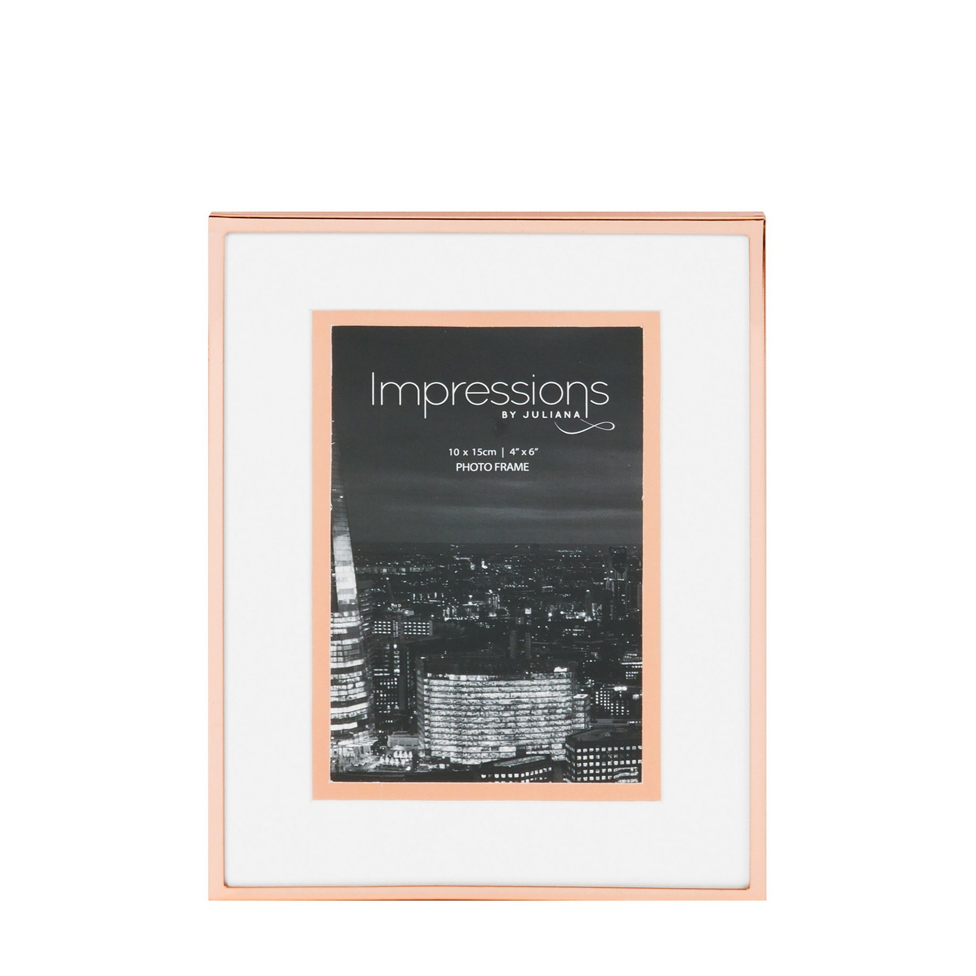 Image of Copper Finish Photo Frame Foil Border