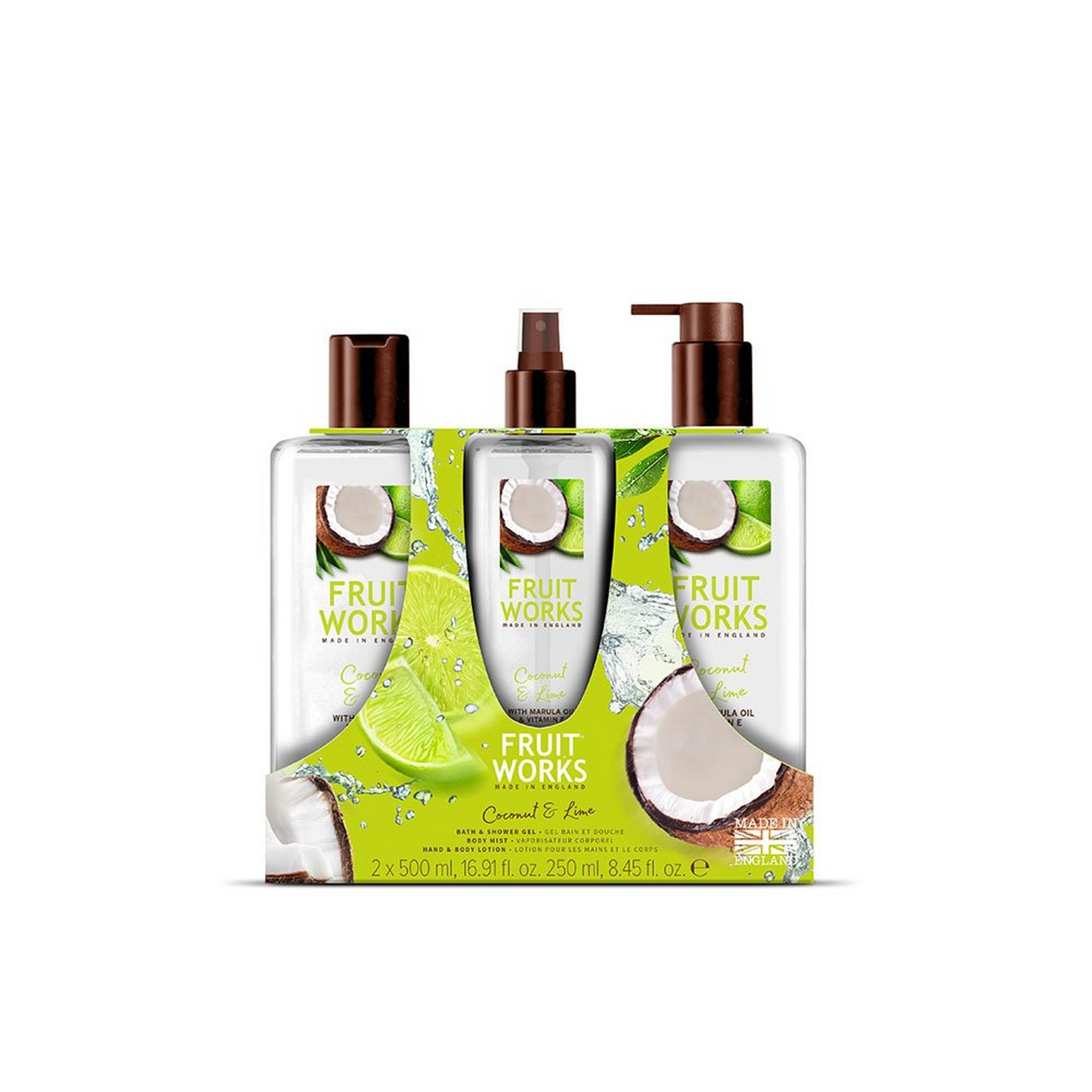 Image of Grace Cole Coconut and Lime Fruit Works Gift Set