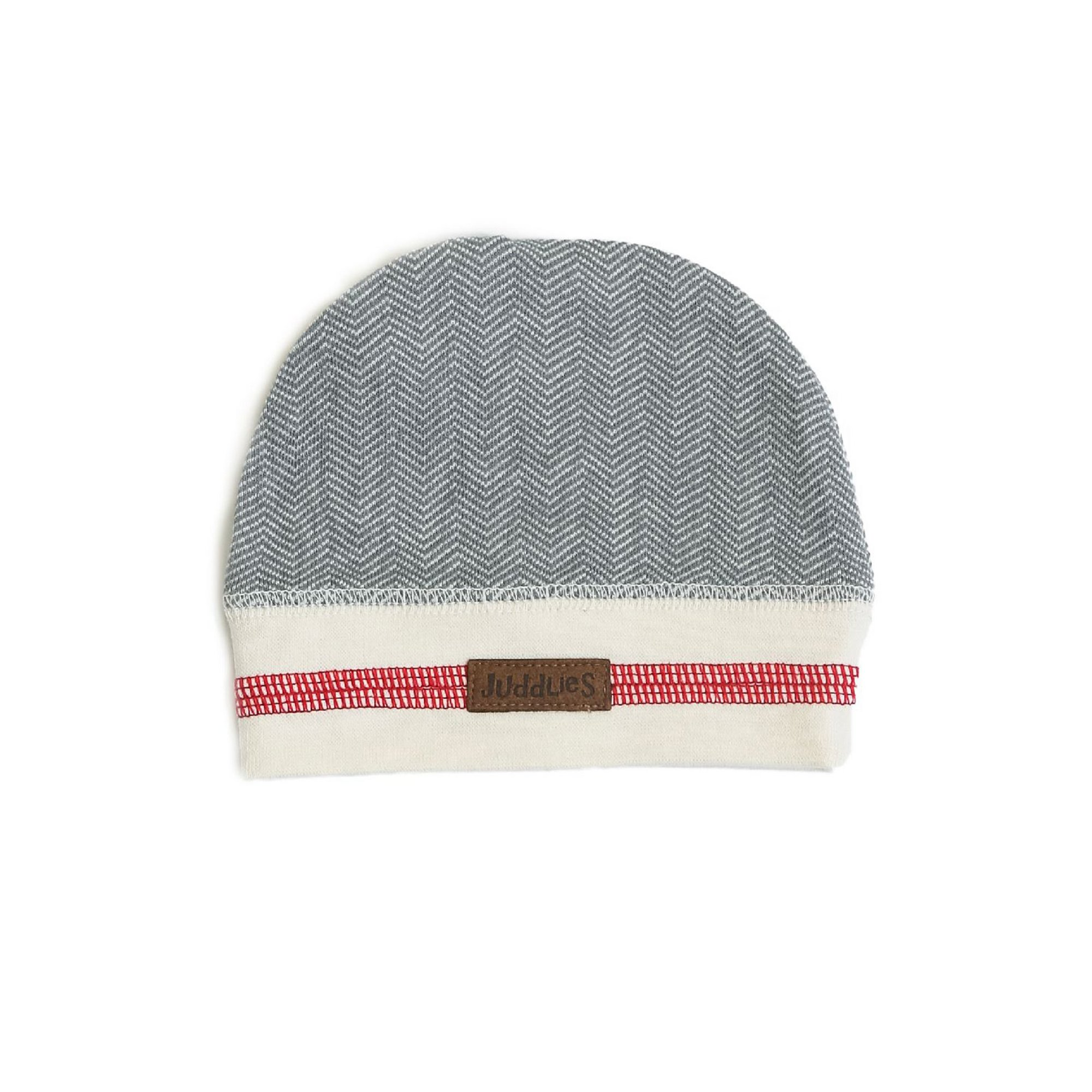 Image of Juddlies Cottage Collection Cottage Beanie Driftwood Grey (0 3M)