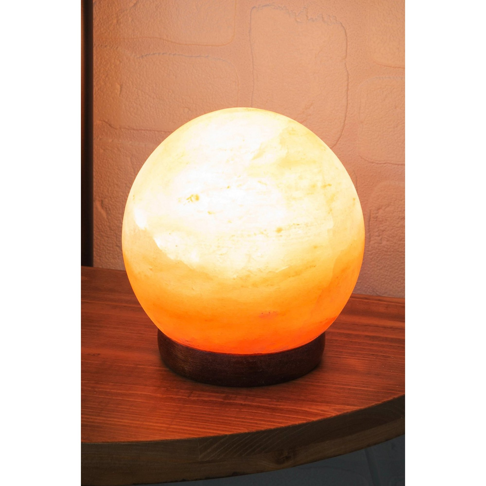 Image of 5 Inch Himalayan Rock Salt Sphere Lamp