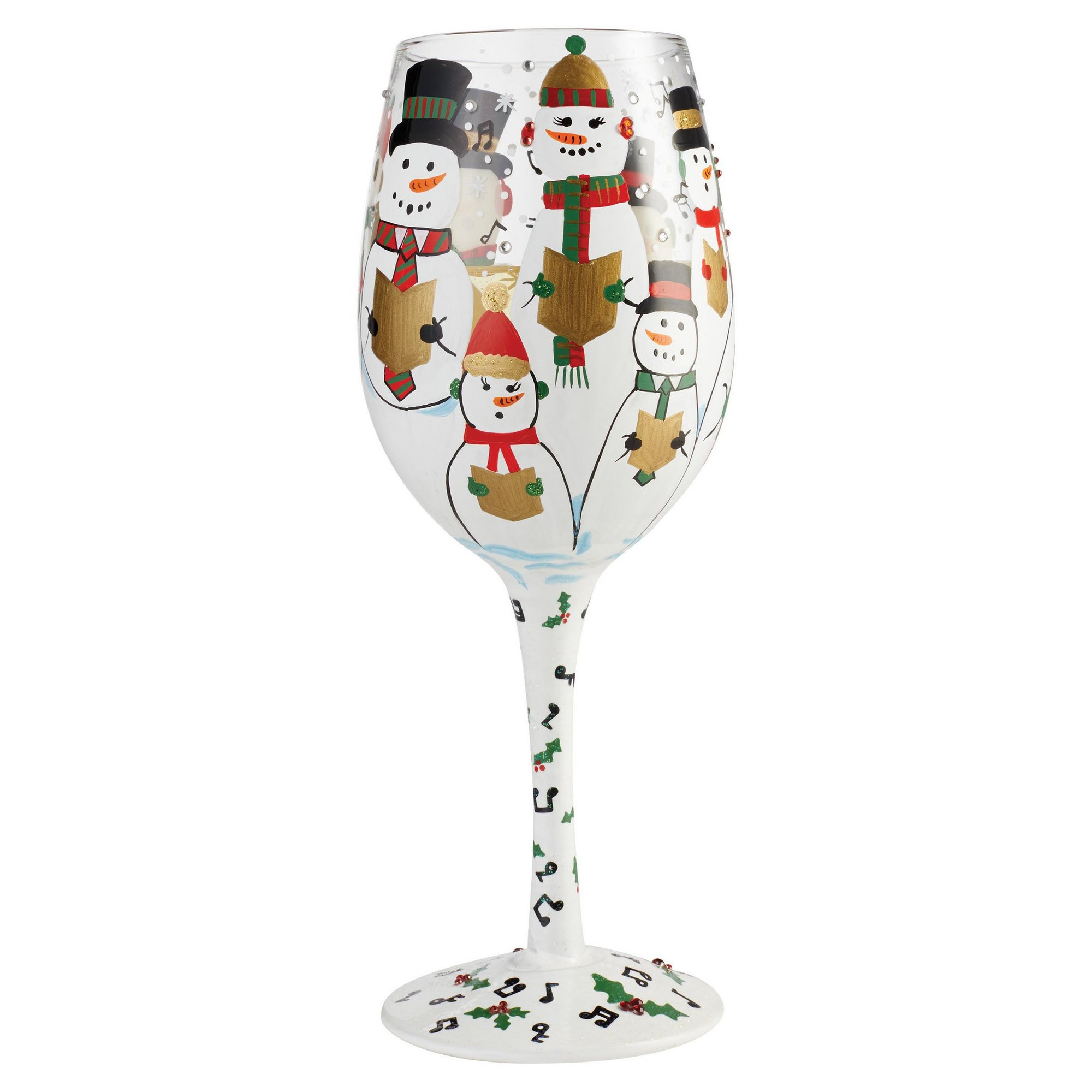Image of Lolita Singing in the Snow Wine Glass